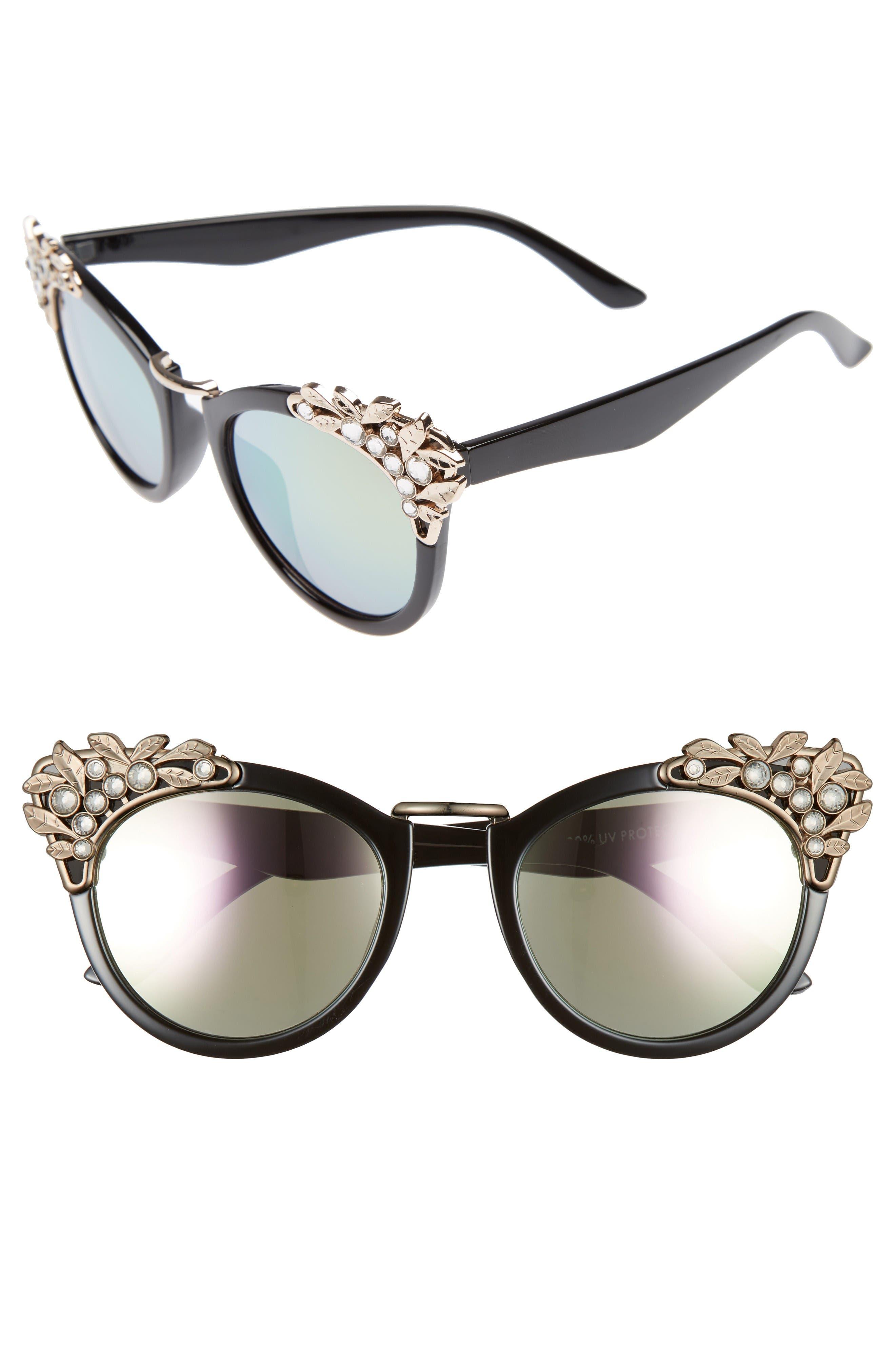 Main Image - BP. Optical Illusion 56mm Embellished Cat Eye Sunglasses