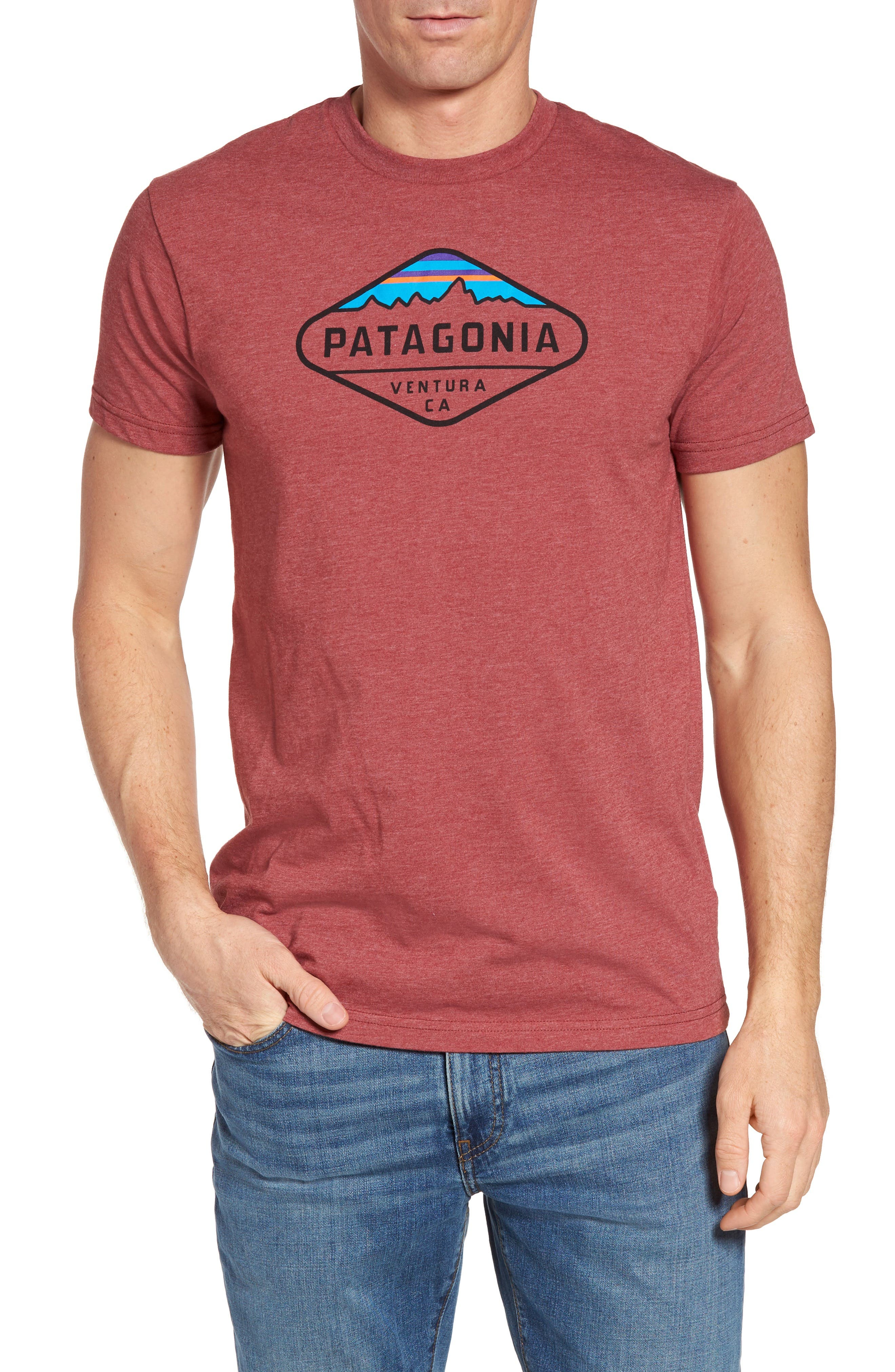 Patagonia 'Fitz Roy Crest' Slim Fit Organic Cotton Blend T-Shirt