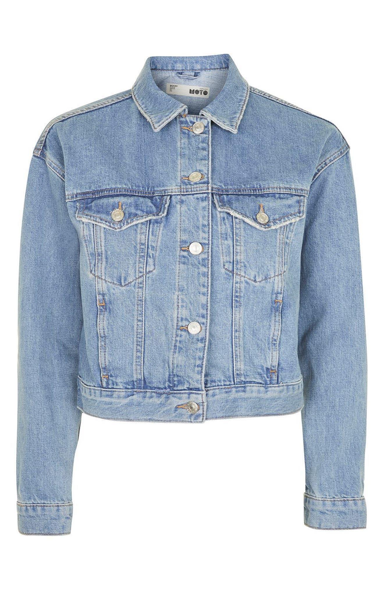 Alternate Image 4  - Topshop Matilda Denim Jacket