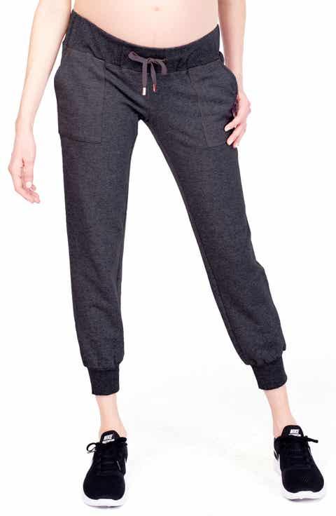 Ingrid   Isabel® Cozy Fleece Maternity Jogger Pants