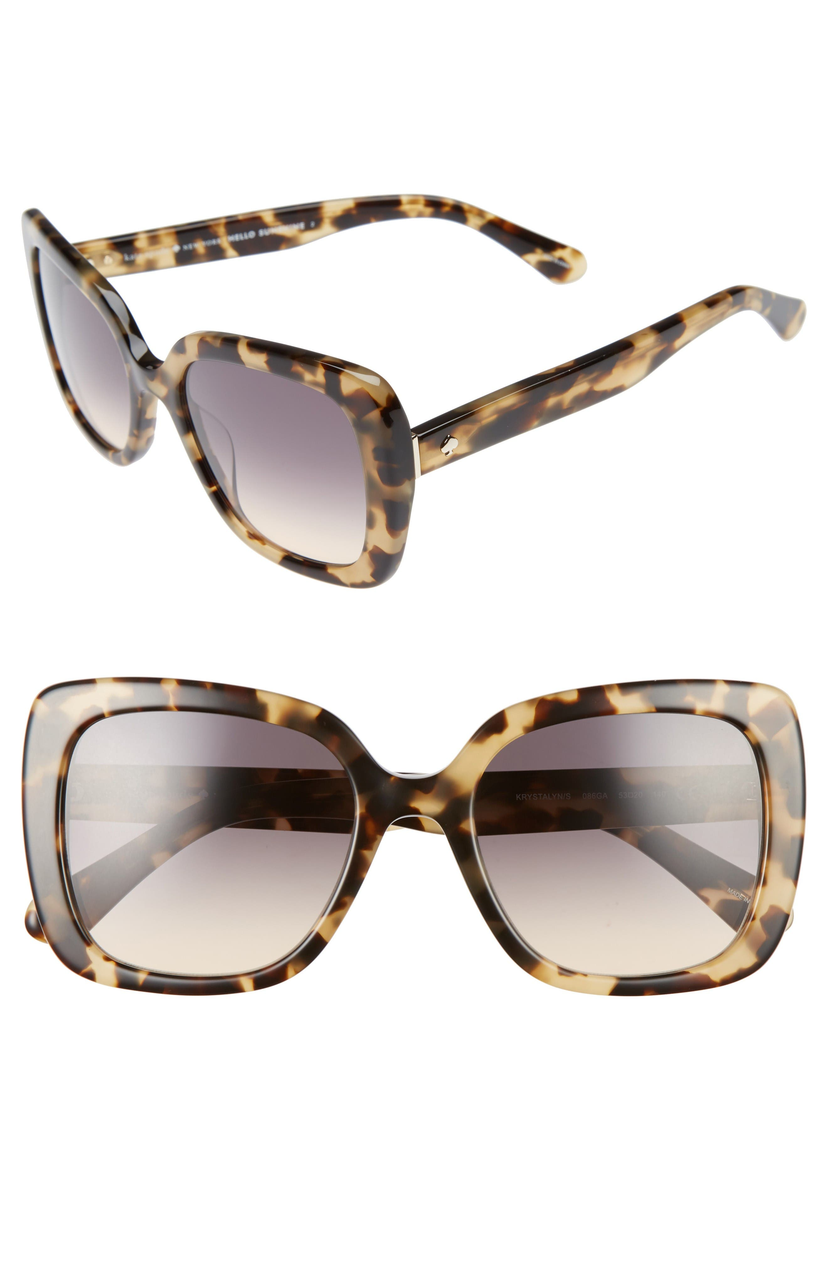 Alternate Image 1 Selected - kate spade new york krystalyn 53mm Sunglasses