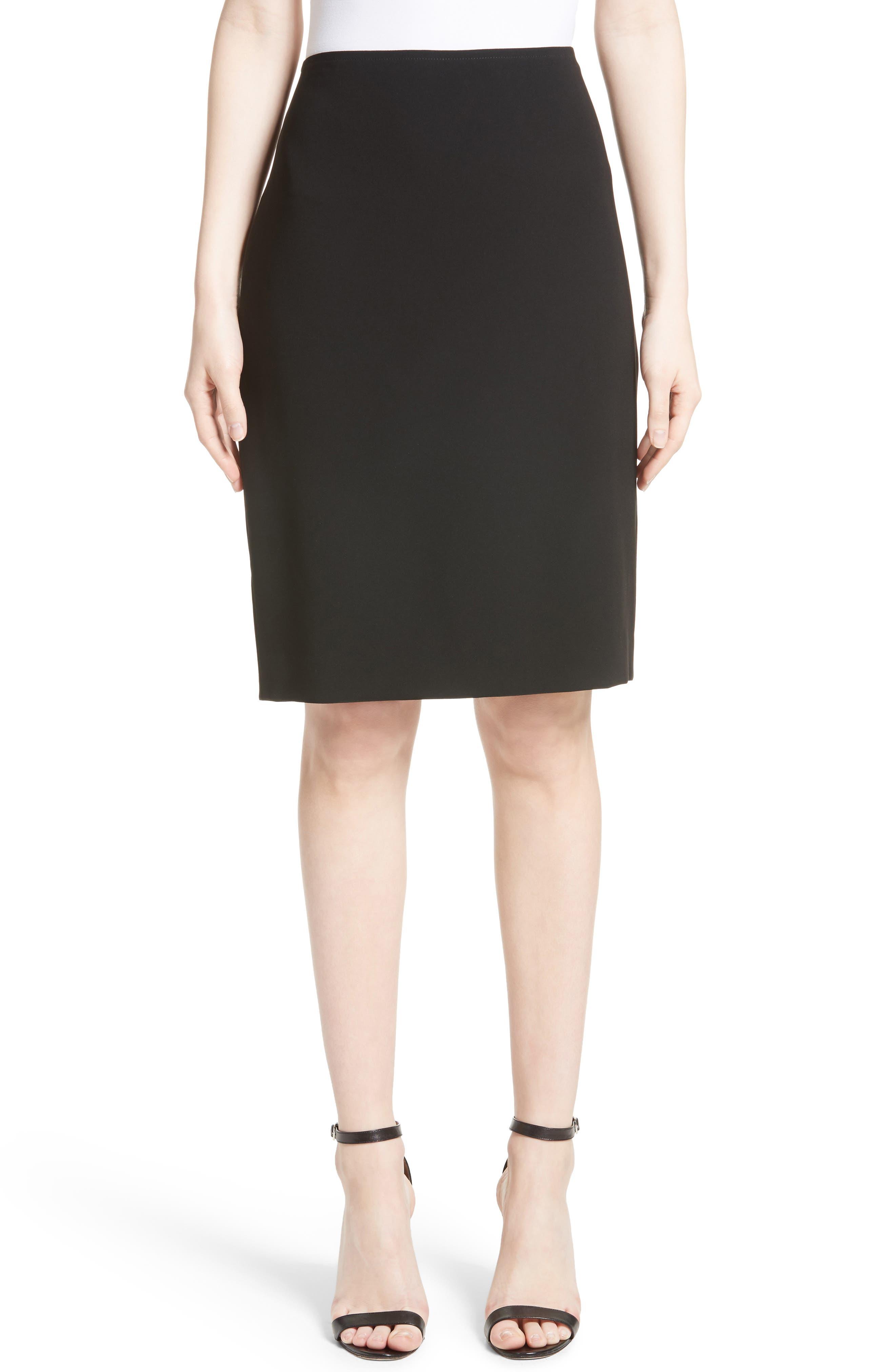 Main Image - St. John Collection Crepe Marocain Pencil Skirt