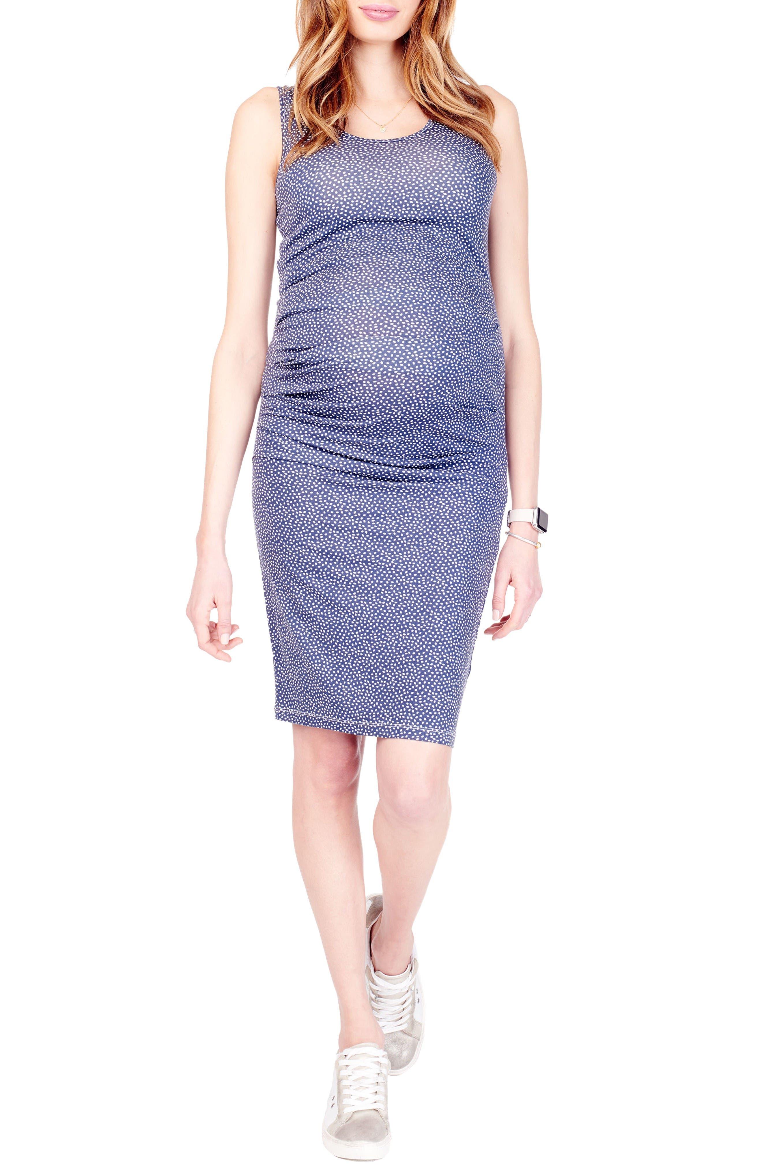 Alternate Image 1 Selected - Ingrid & Isabel® Ruched Maternity Tank Dress