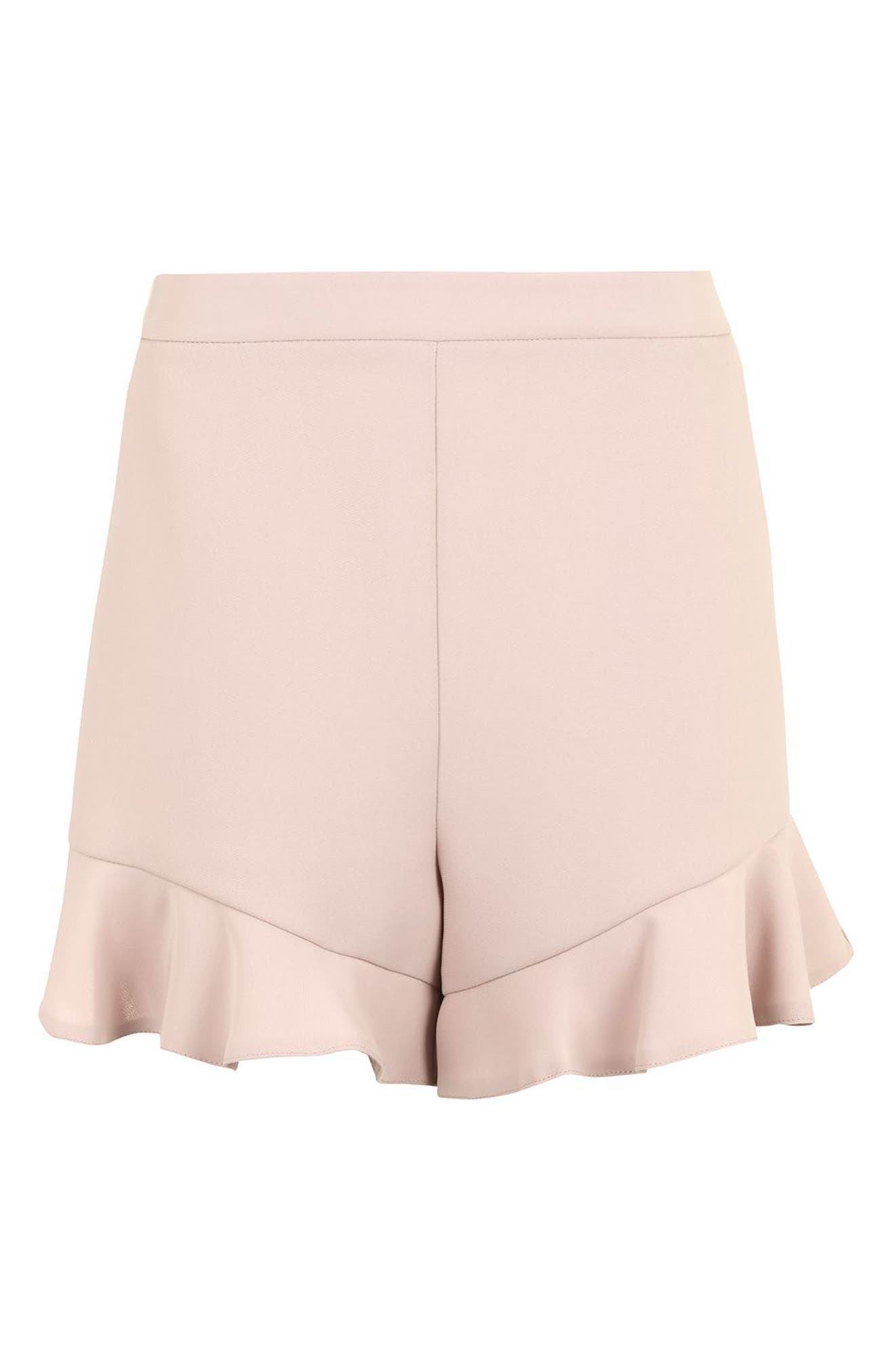Alternate Image 5  - Topshop Frill Hem Shorts