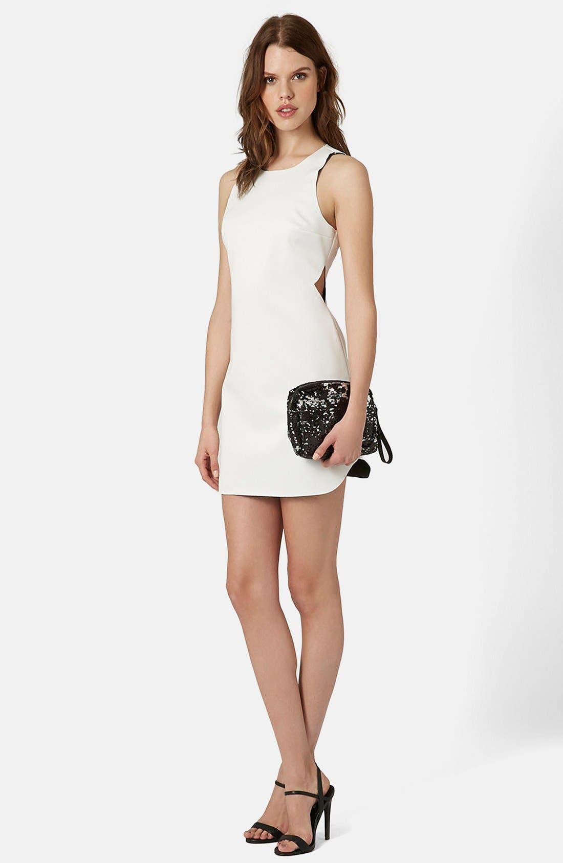 Alternate Image 1 Selected - Topshop Raw Edge Cutout Body-Con Dress