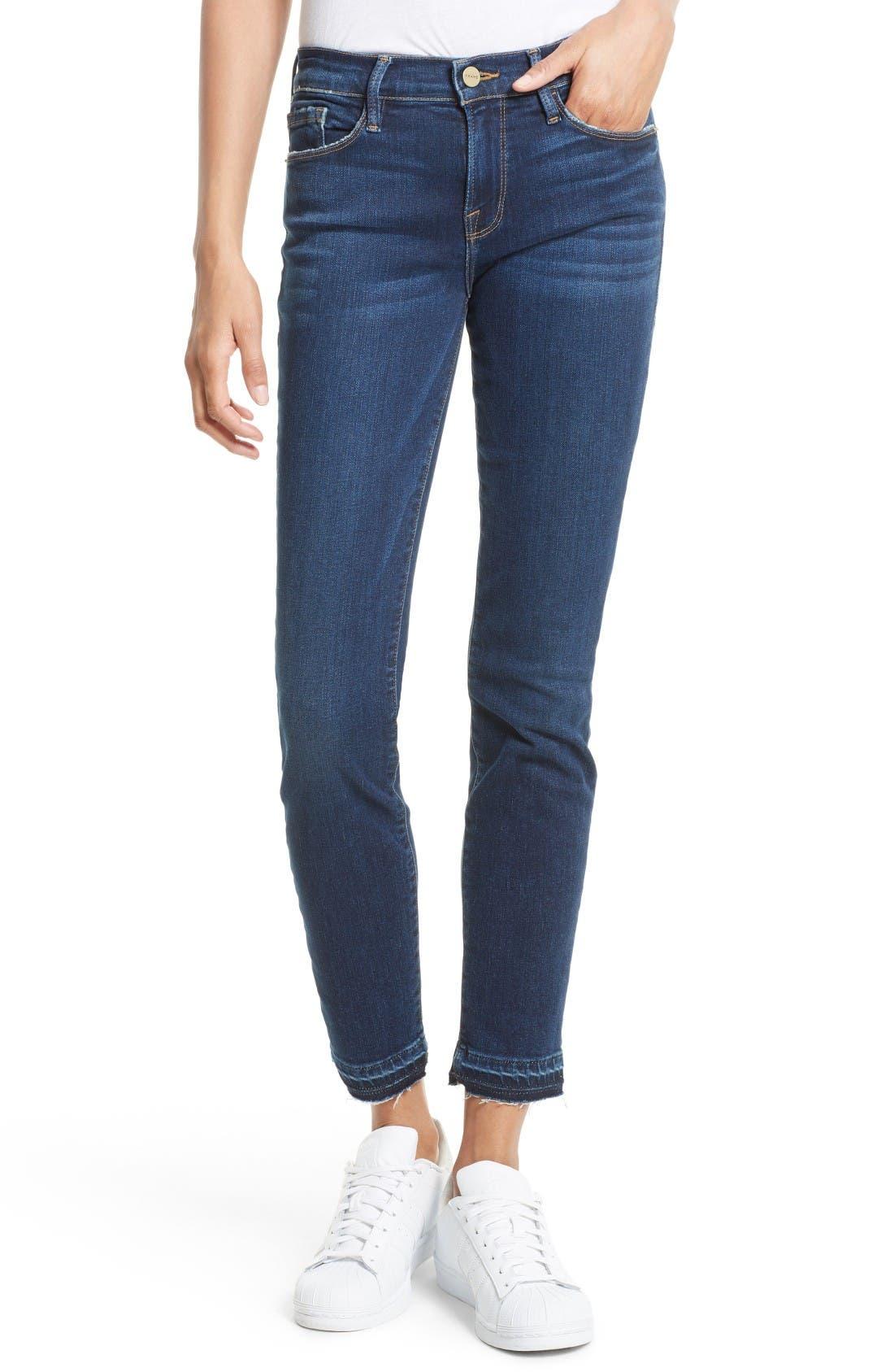 FRAME Le Skinny de Jeanne Cuffed Jeans (Sutter)