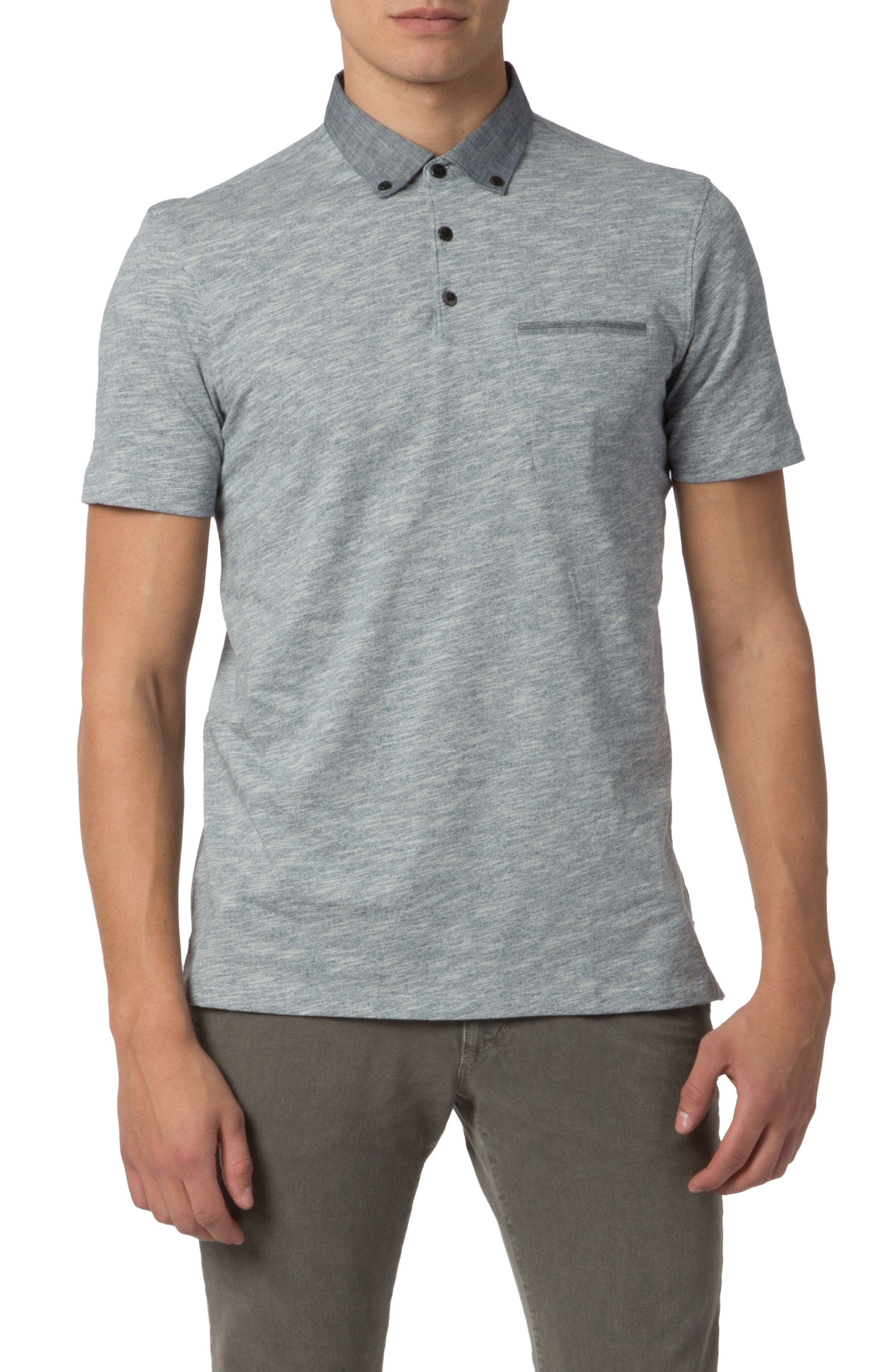Good Man Brand Heathered Stripe Polo