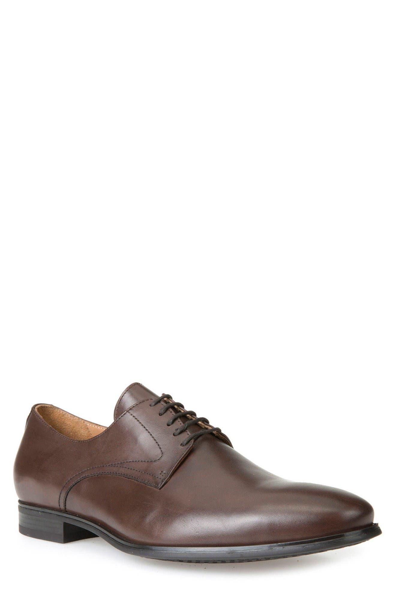 Geox Albert 2Fit5 Plain Toe Derby (Men)