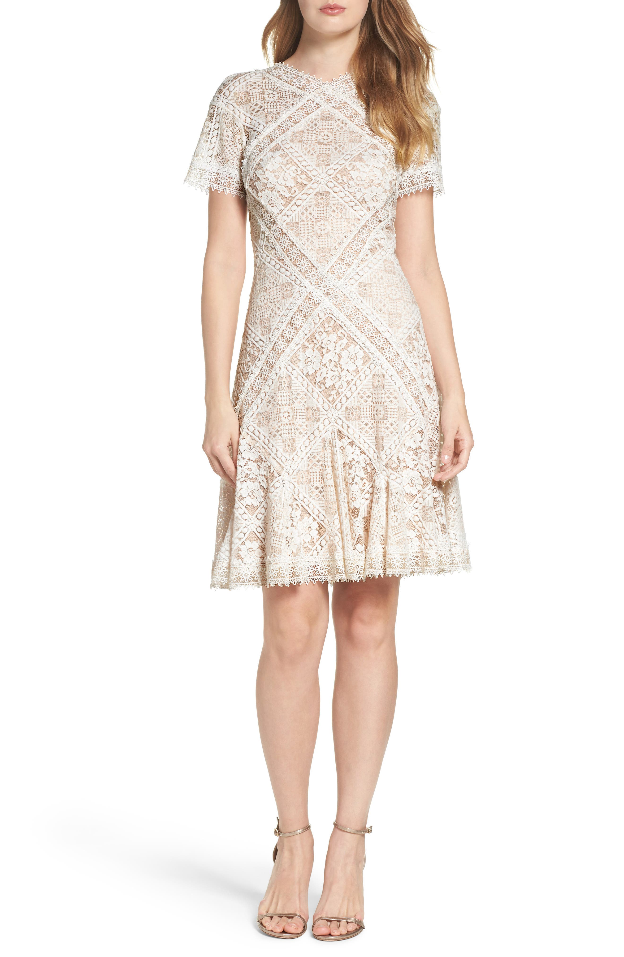 Tadashi Shoji Aurore Fit & Flare Dress