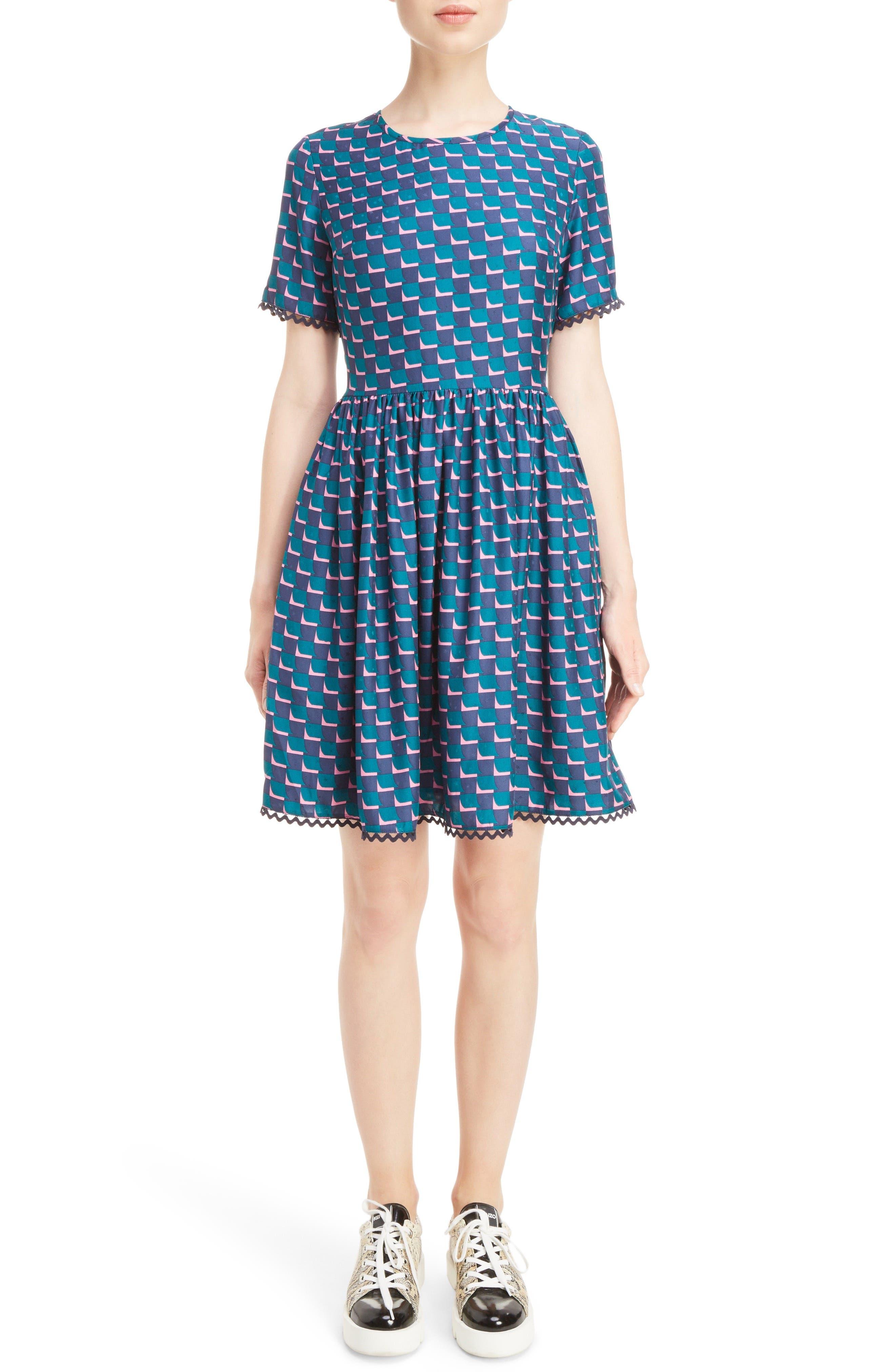 KENZO Silk Jacquard Dress