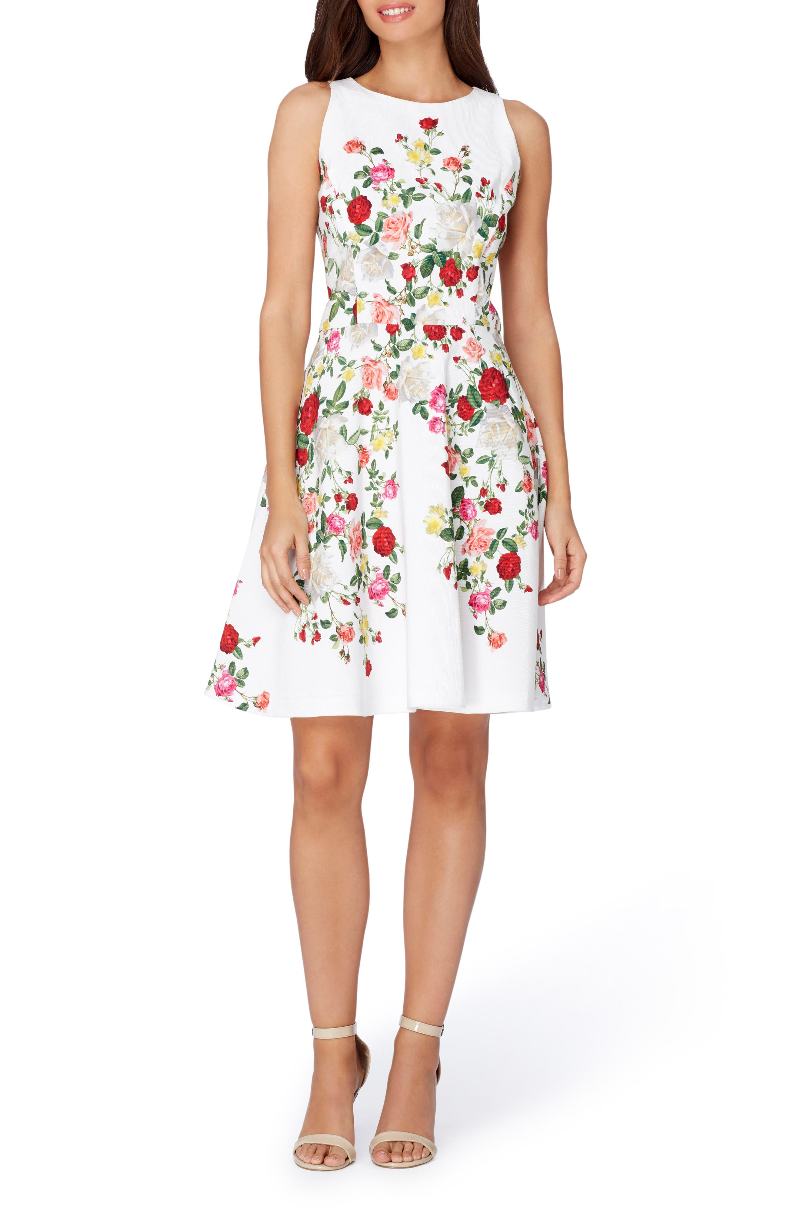 Tahari Floral Fit & Flare Dress (Regular & Petite)