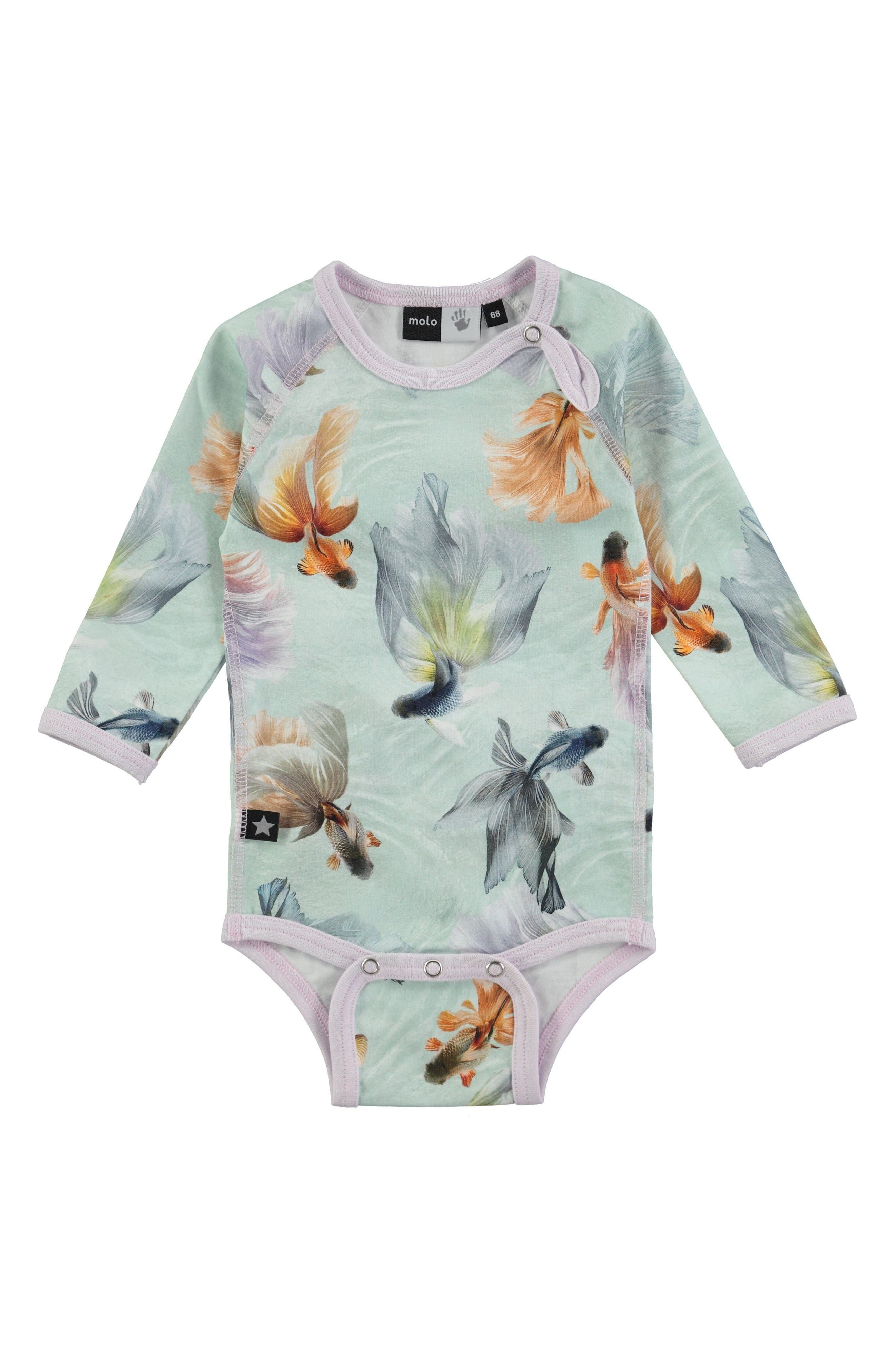 Molo Fonda Flower Print Bodysuit (Baby Girls)
