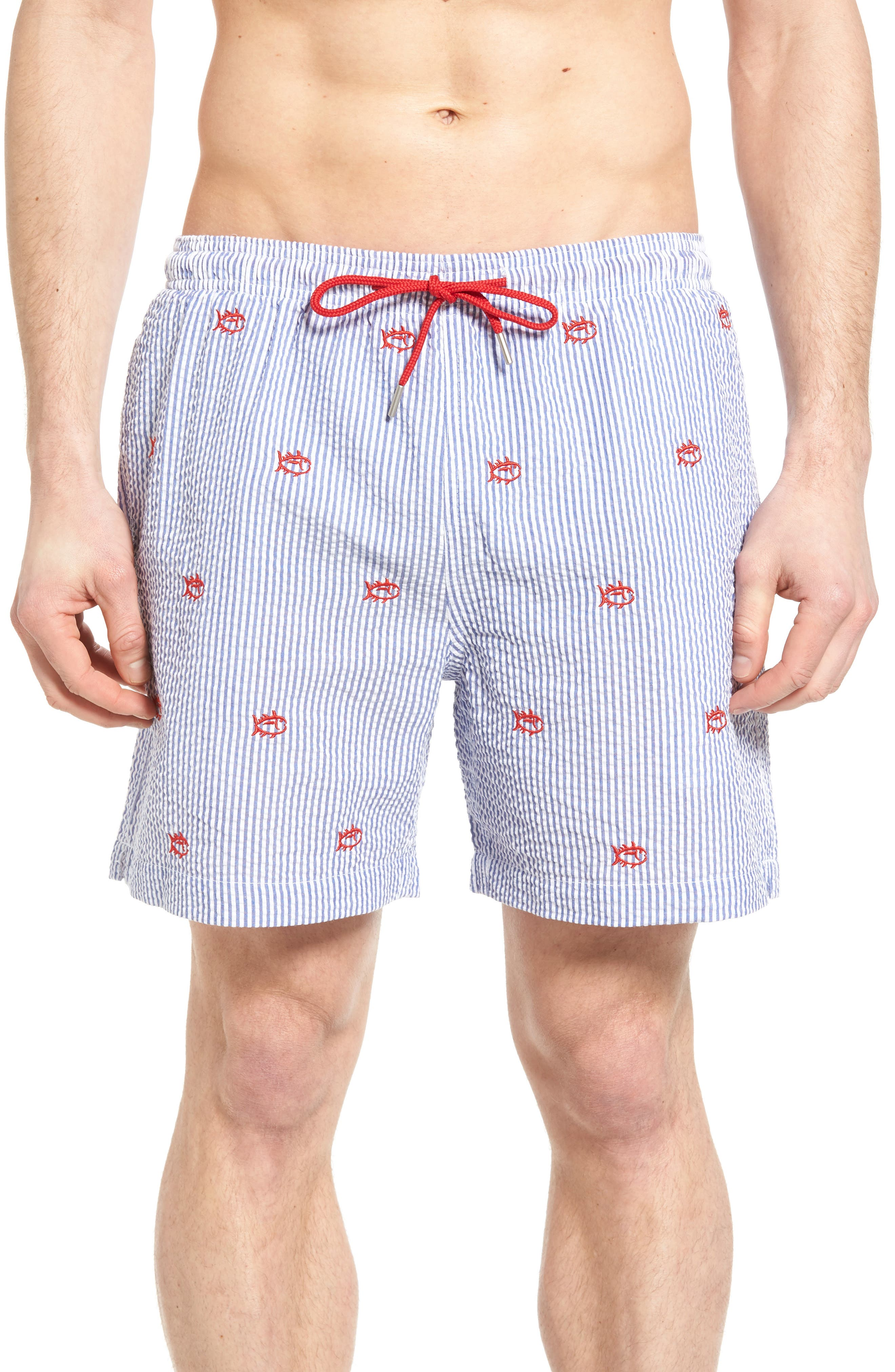 Southern Tide Seersucker Swim Trunks