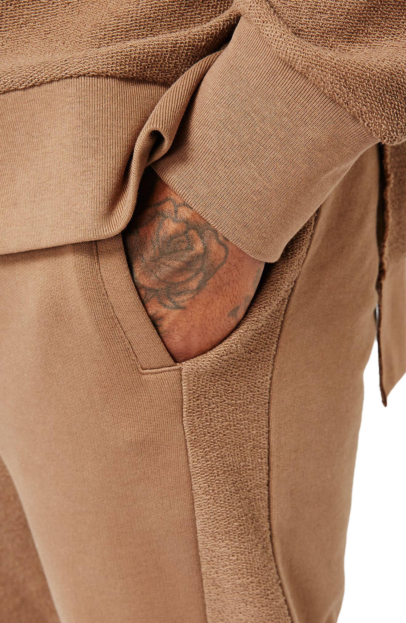 Alternate Image 4  - Topman AAA Collection Paneled Slim Fit Jogger Pants