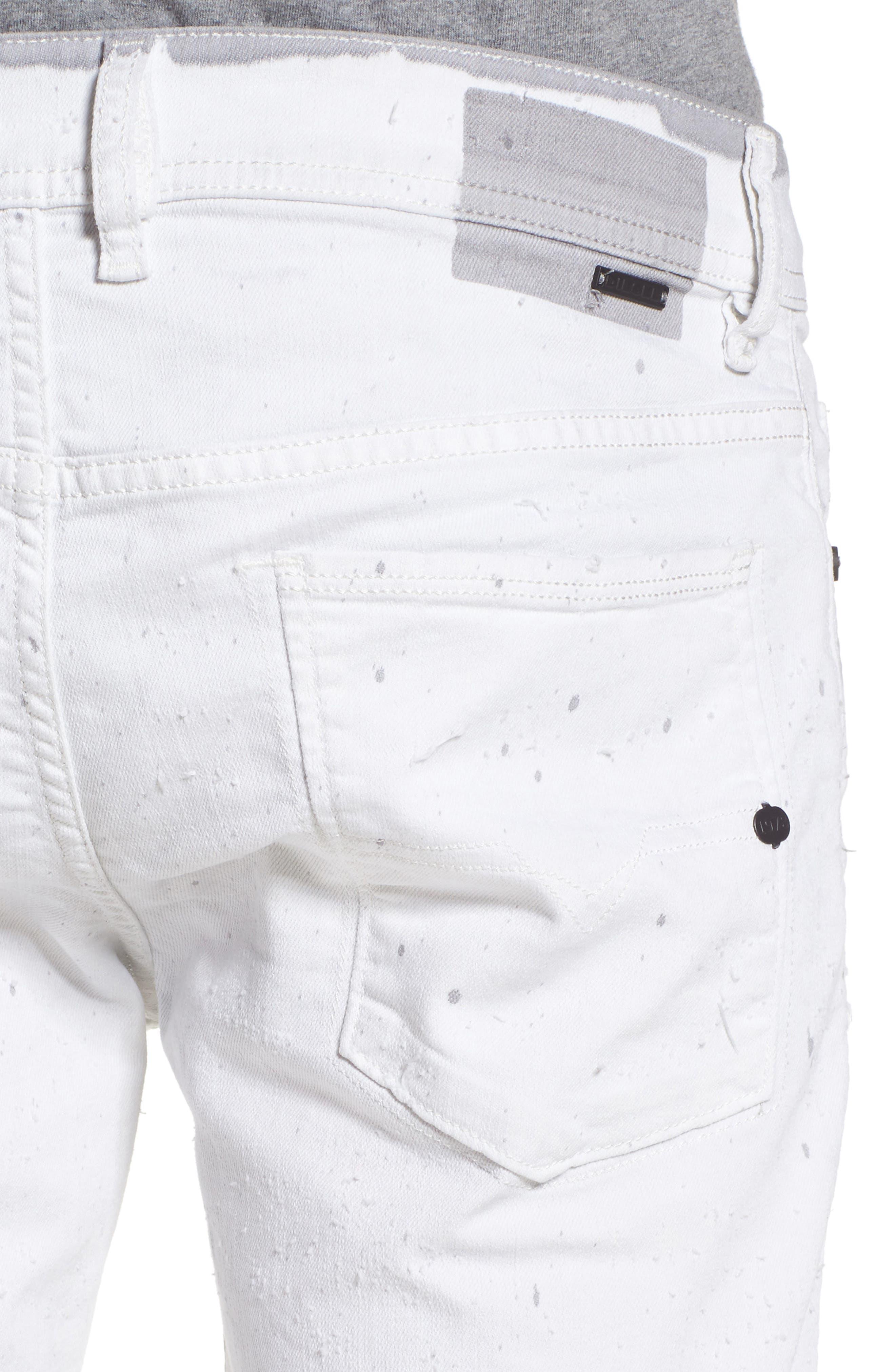 Alternate Image 4  - DIESEL® Sleenker Skinny Fit Cutoff Jeans (0860B)