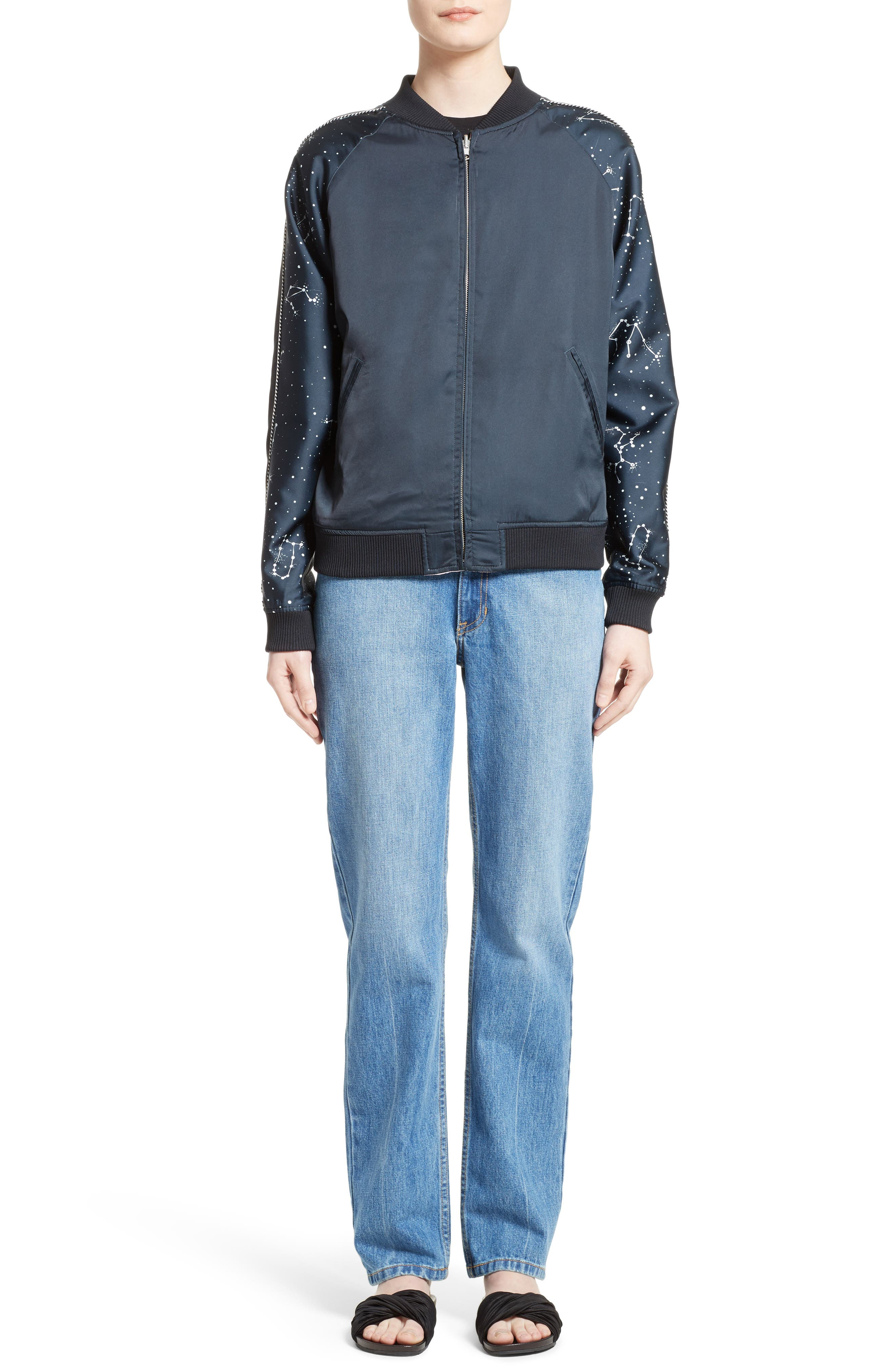 Alternate Image 2  - Opening Ceremony Night Sky Reversible Silk Bomber Jacket
