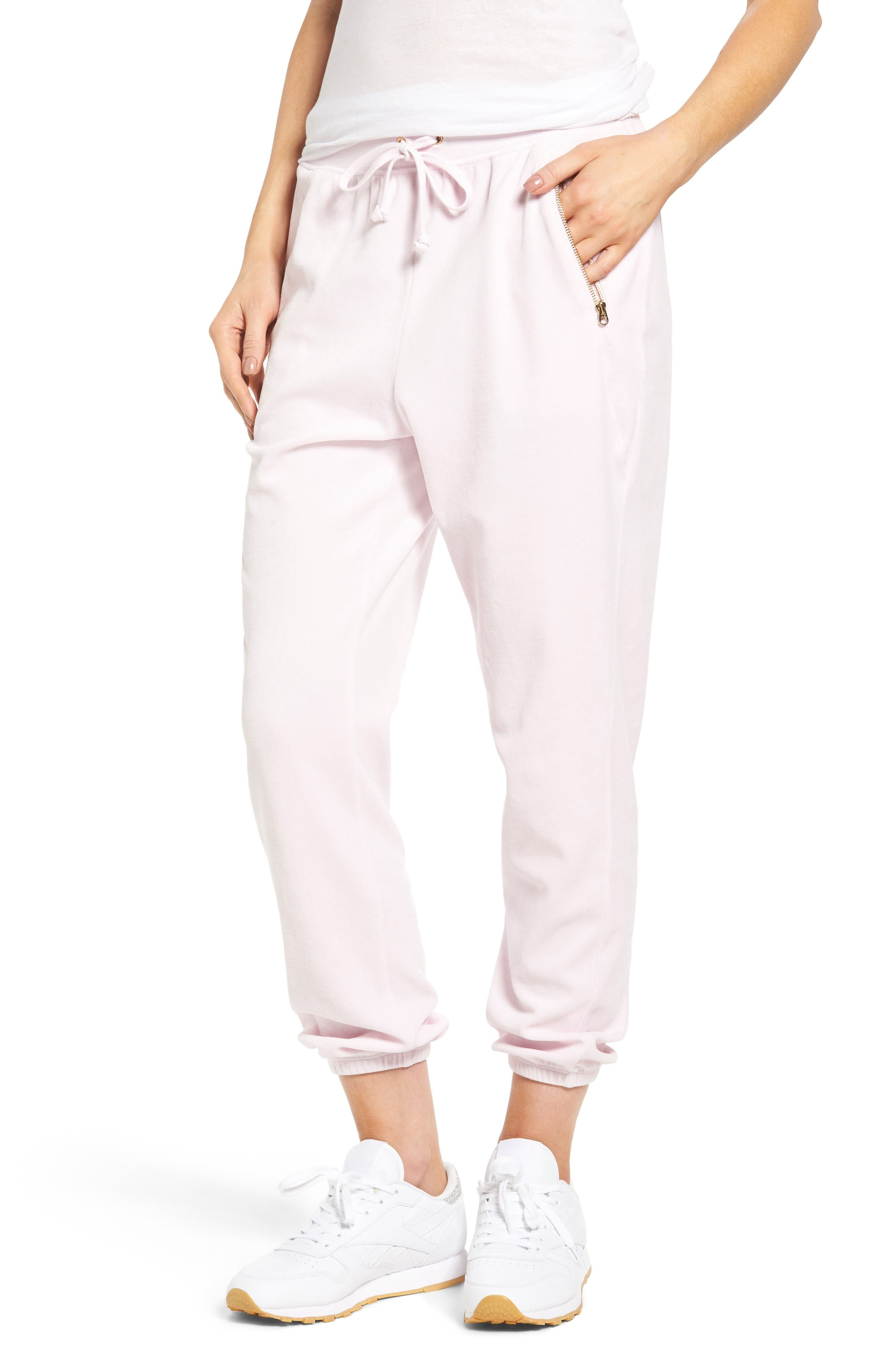 Main Image - Juicy Couture Silverlake Velour Track Pants
