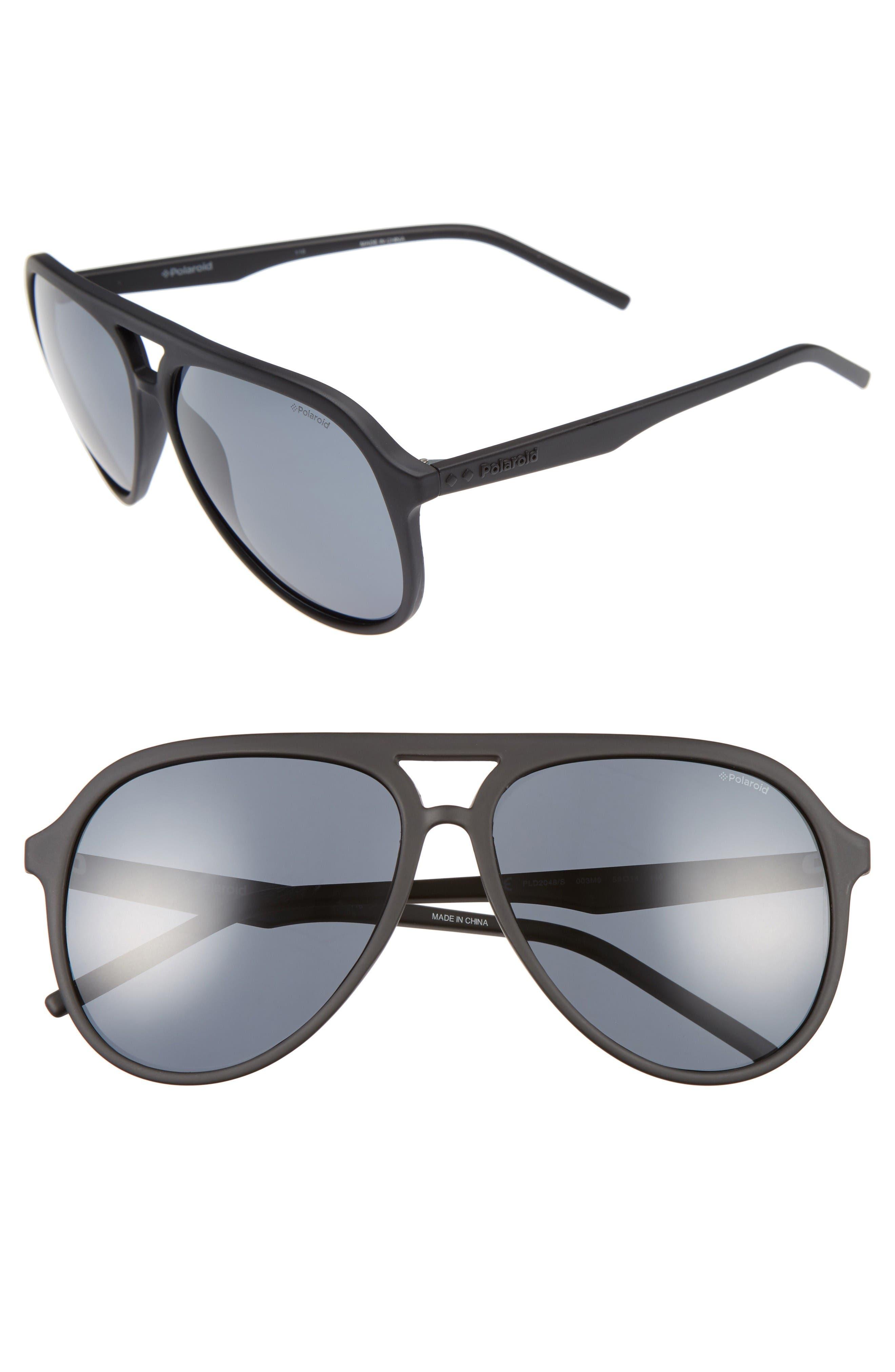 Polaroid Eyewear 59mm Aviator Sunglasses