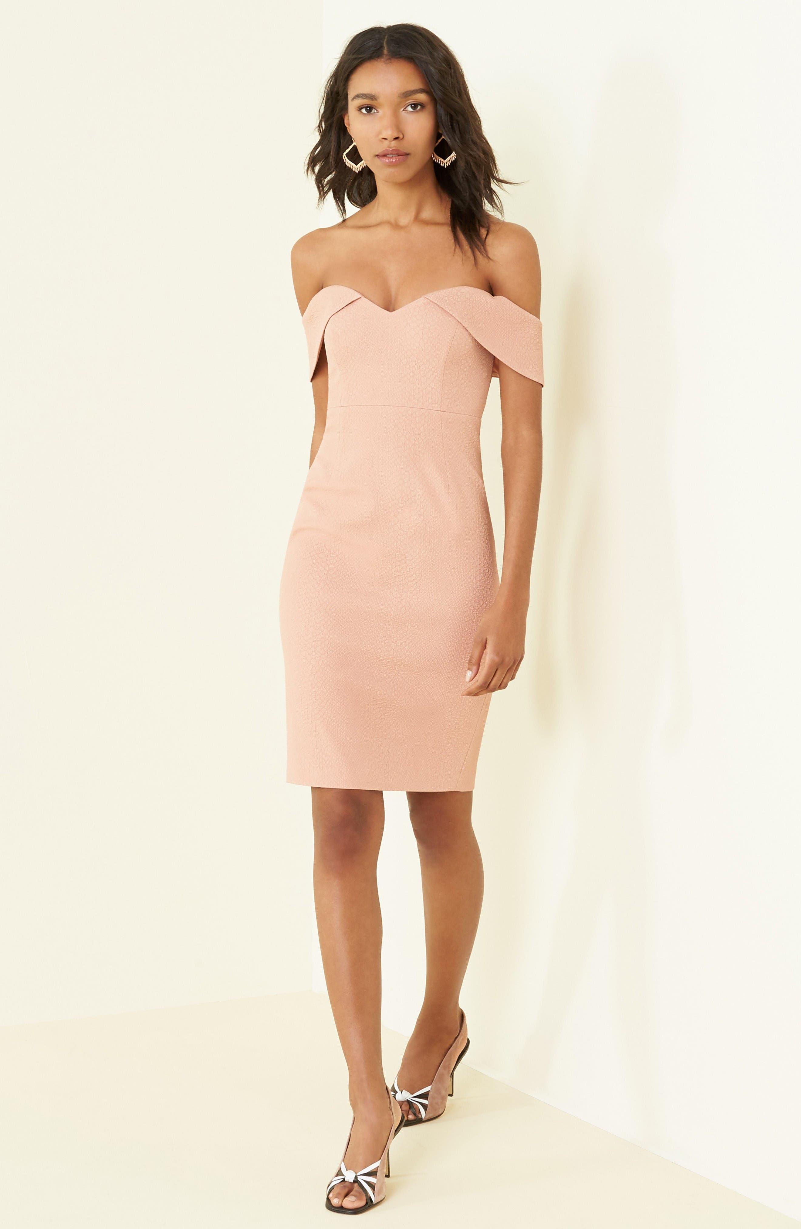 Alternate Image 2  - Bardot Eva Off the Shoulder Body-Con Dress