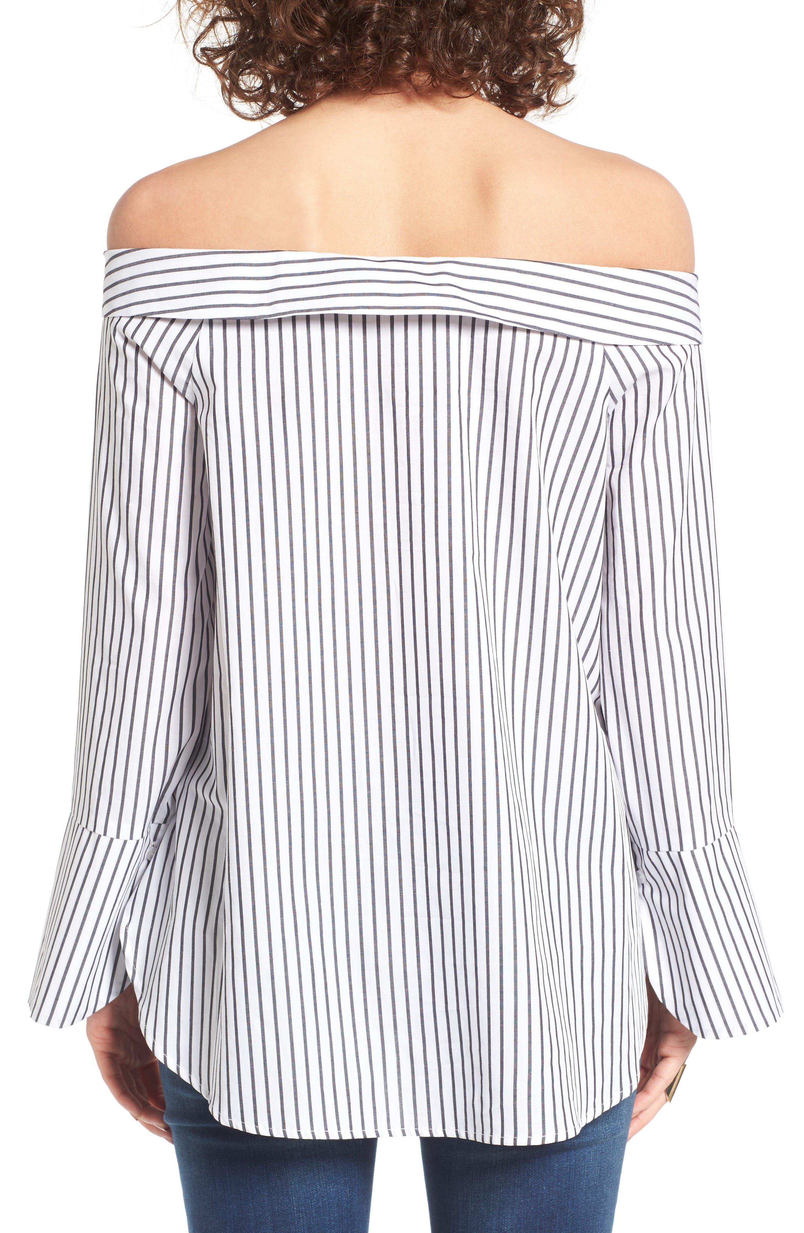 Alternate Image 2  - Lush Stripe Off the Shoulder Top