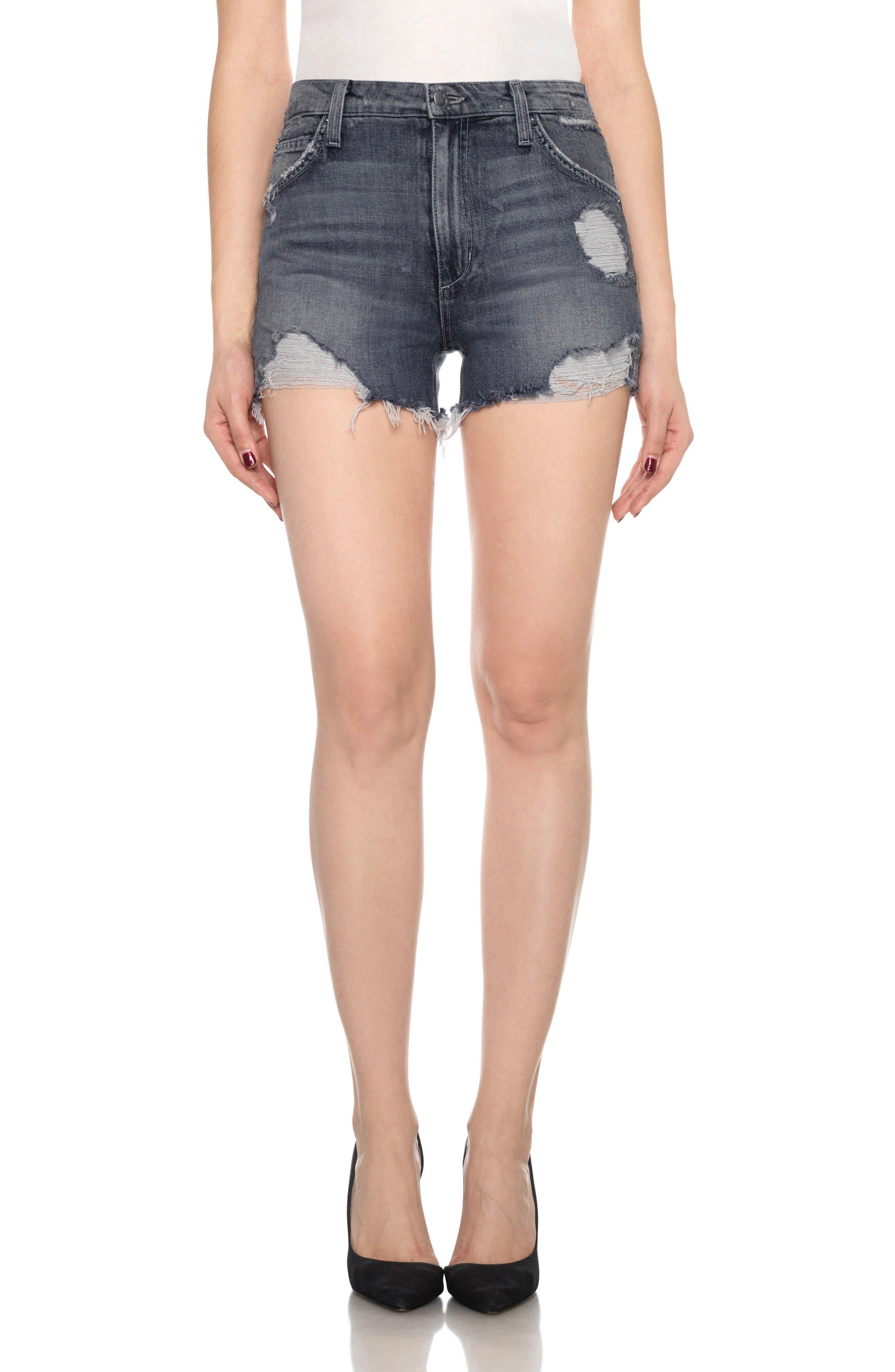 Main Image - Joe's Collector's - Bella High Waist Cutoff Denim Shorts (Enni)