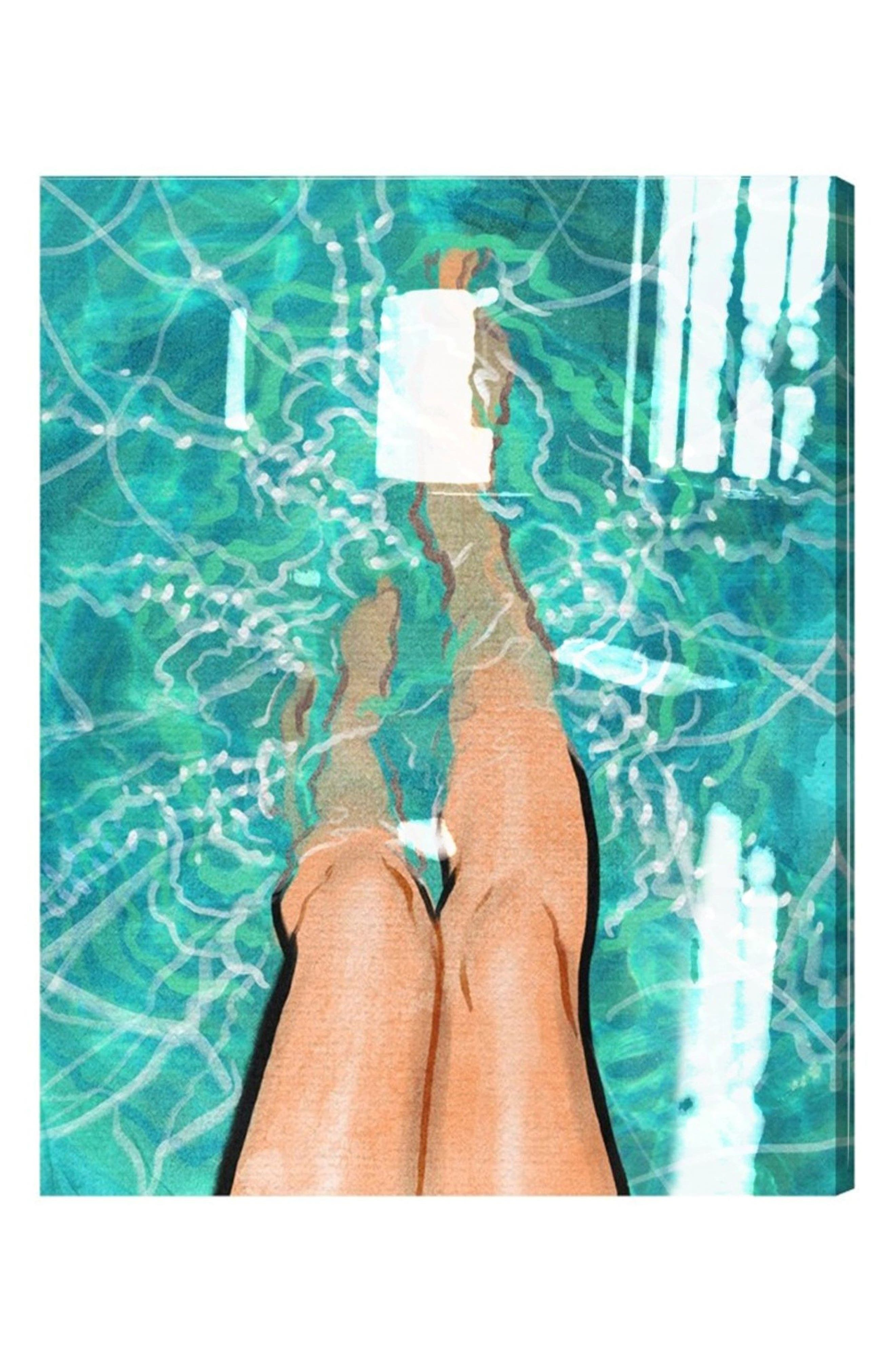 Oliver Gal Summer Legs Canvas Wall Art