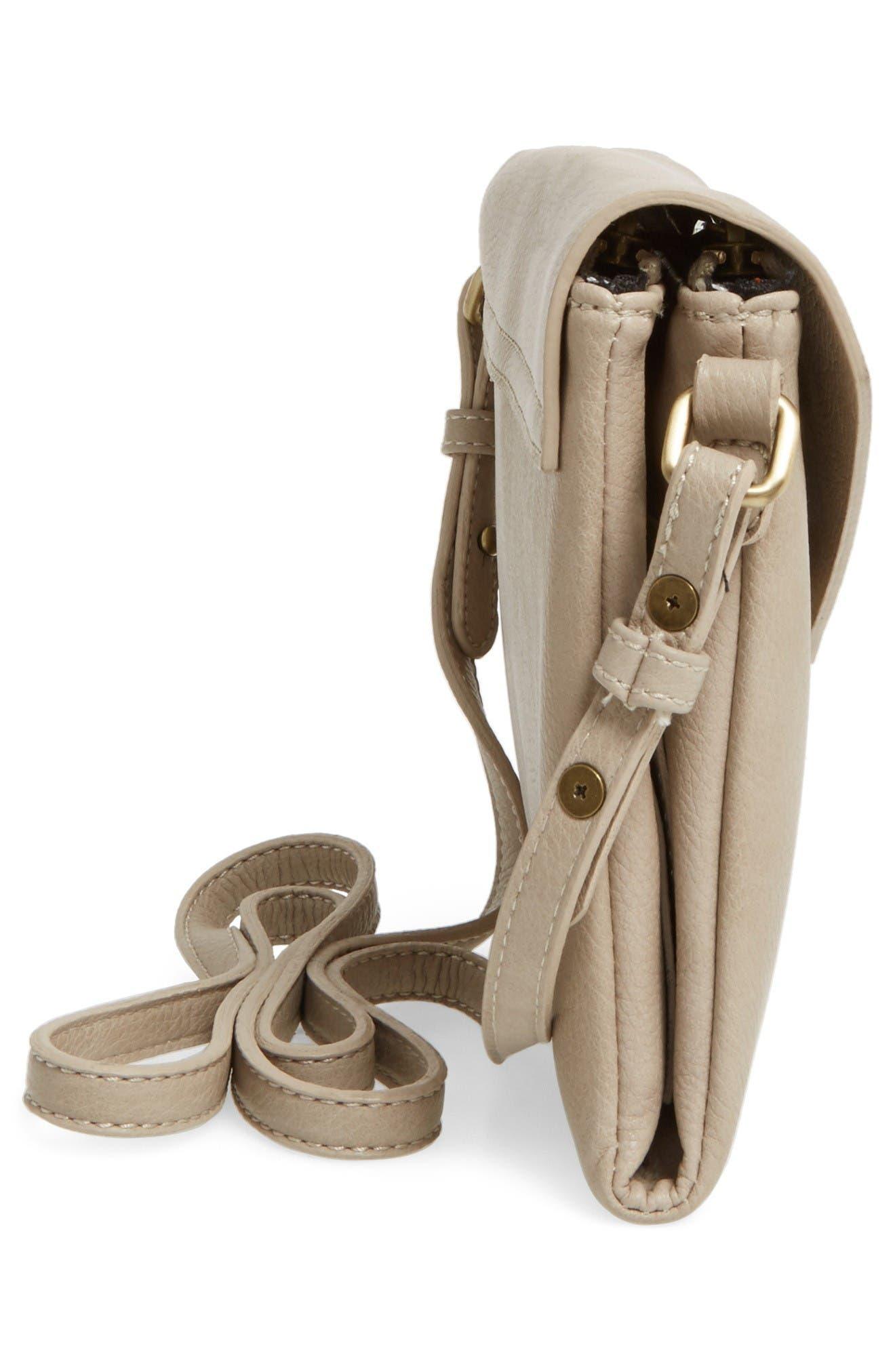Alternate Image 5  - Street Level Faux Leather Envelope Crossbody Bag