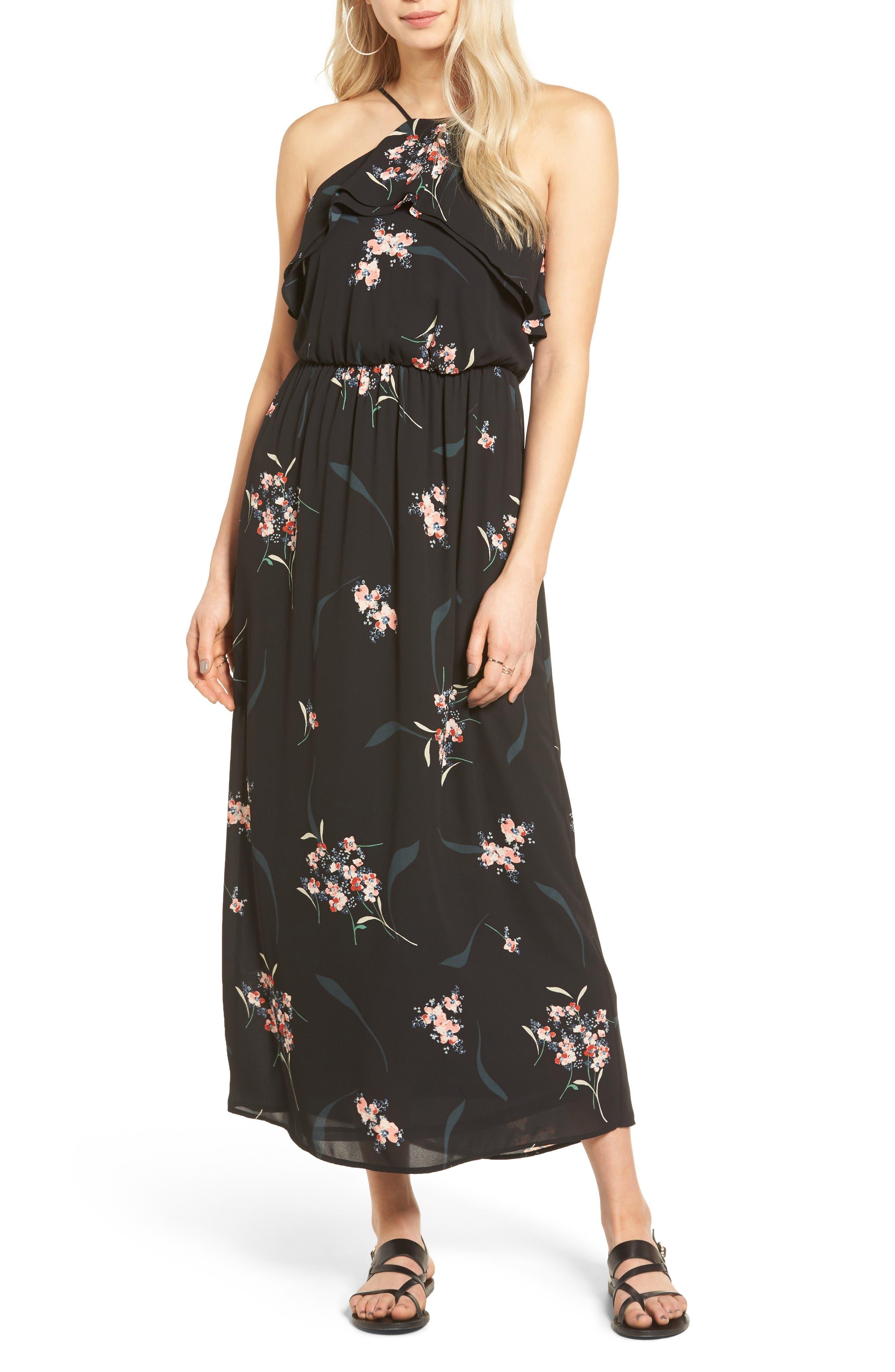 Alternate Image 1 Selected - Lush Ruffle Maxi Dress
