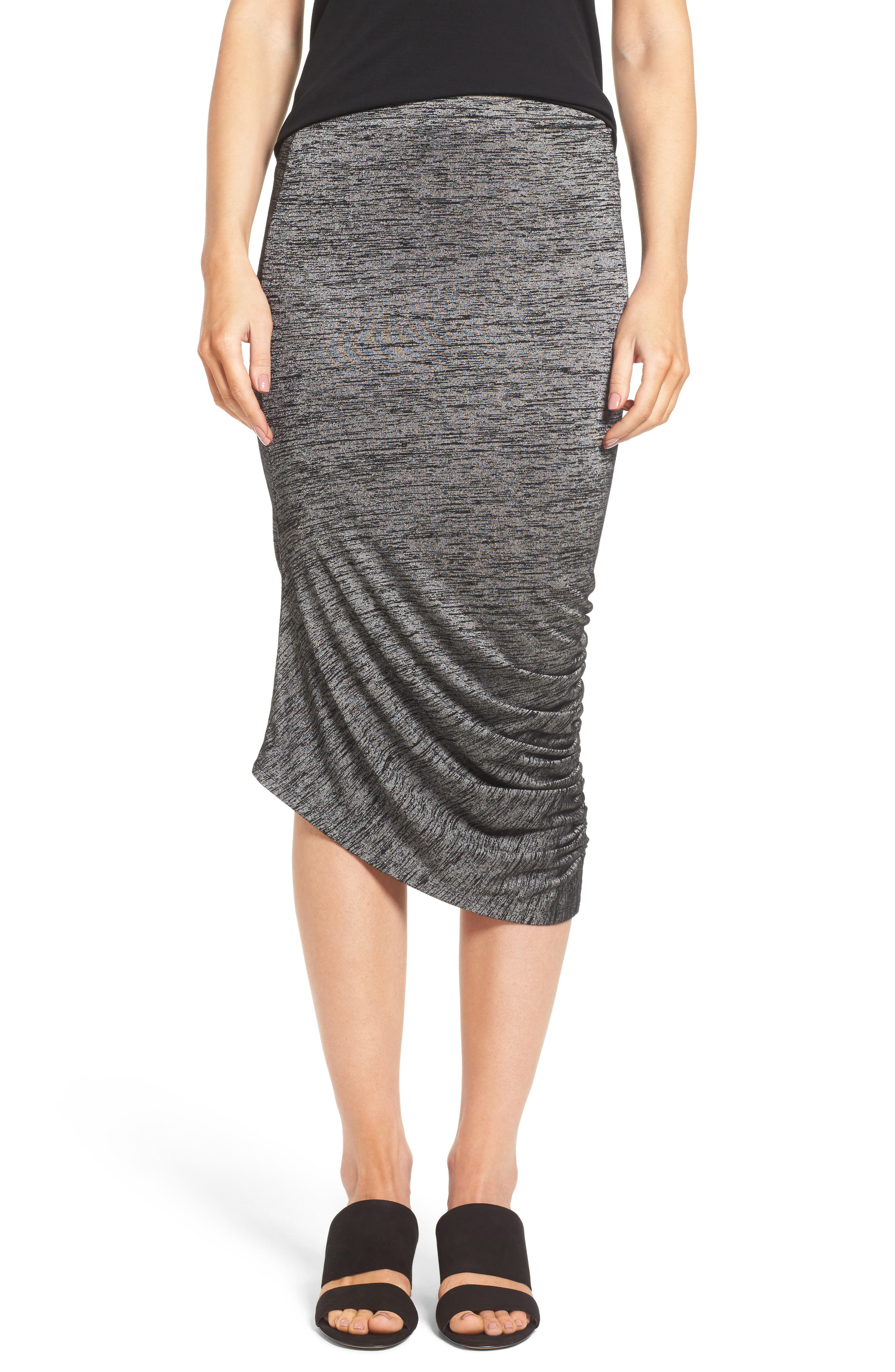 Trouvé Ruched Midi Skirt