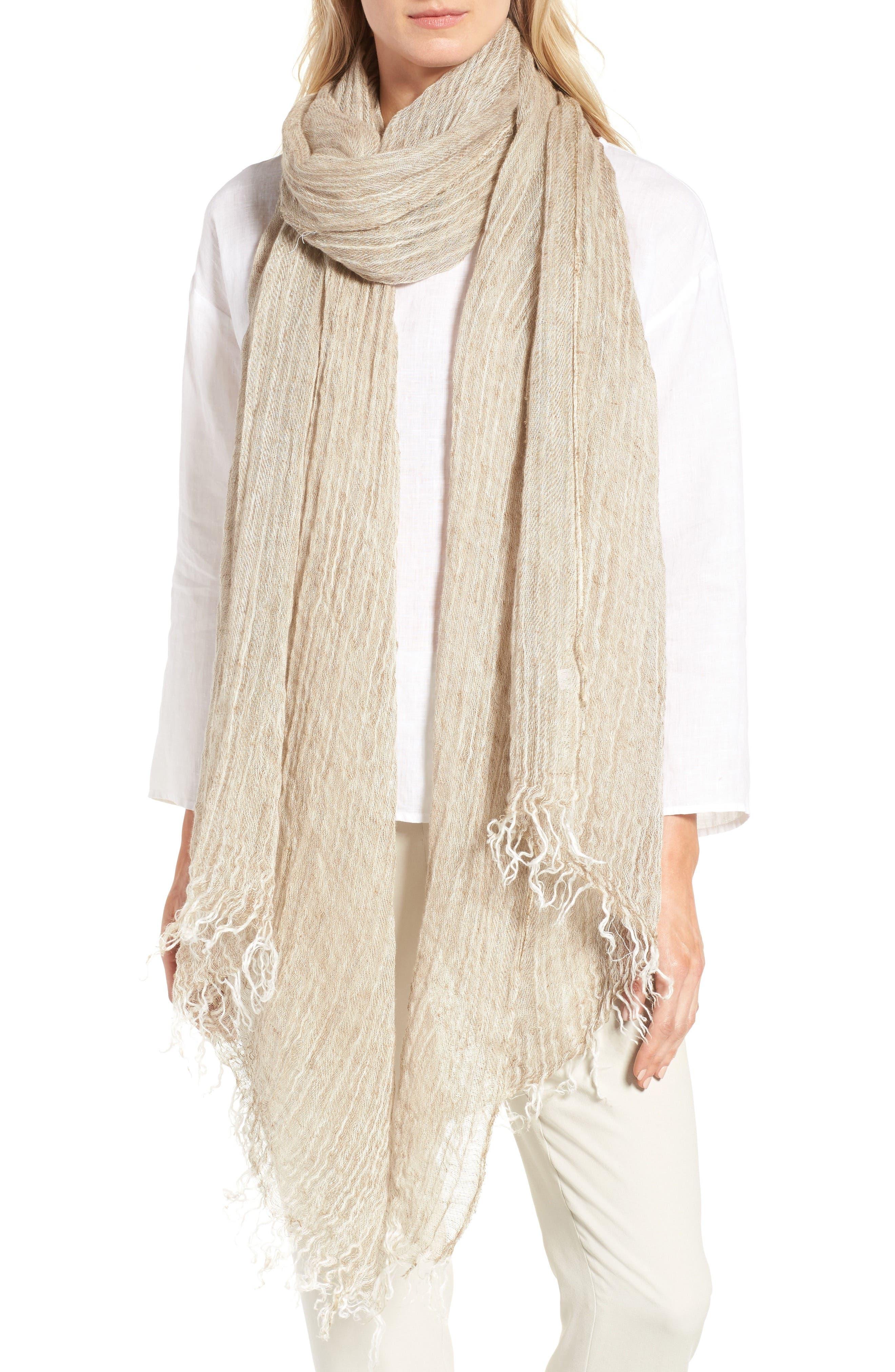 Eileen Fisher Organic Linen Scarf