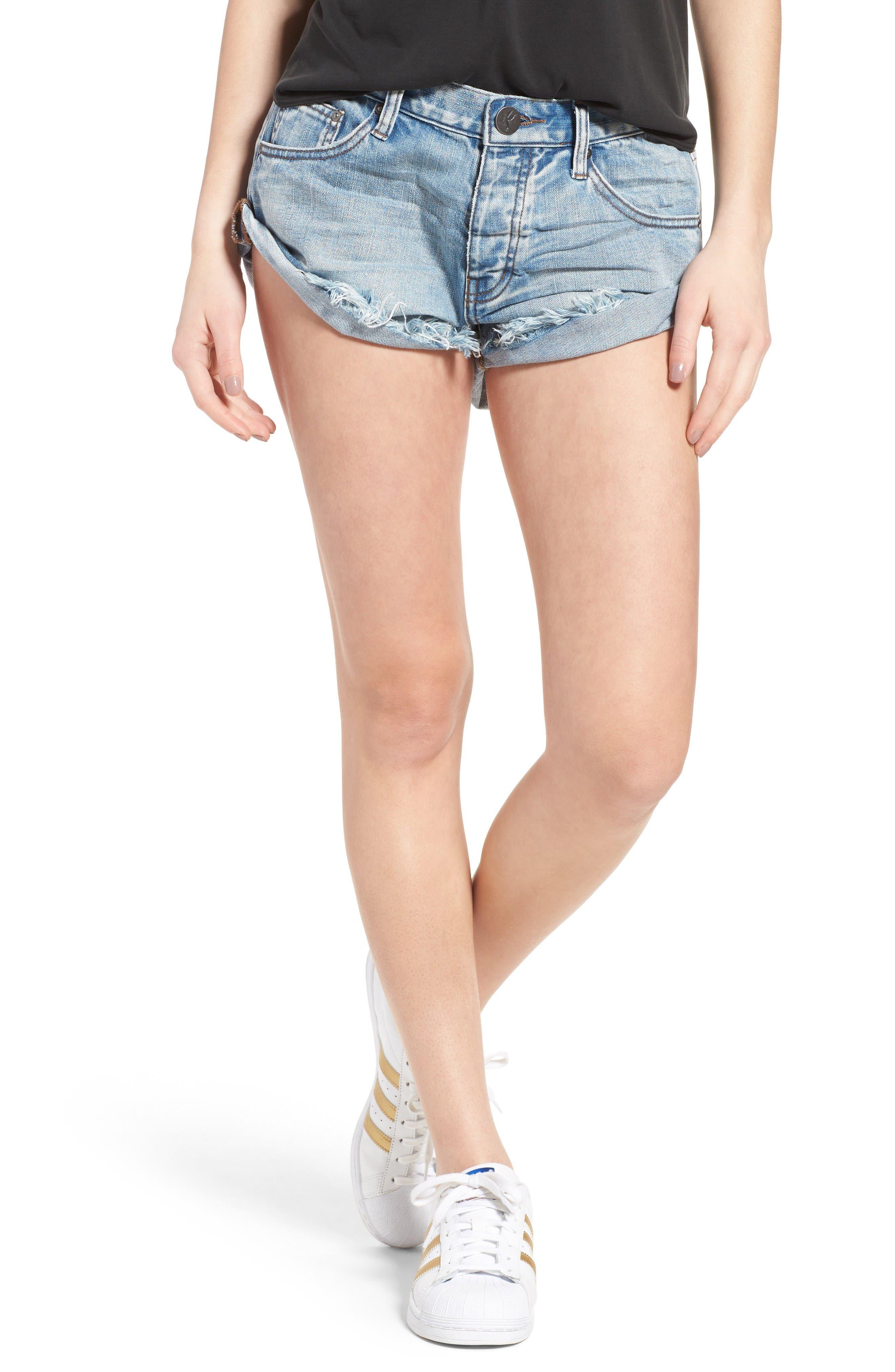 One Teaspoon Bandits Denim Shorts (Hendrixe)