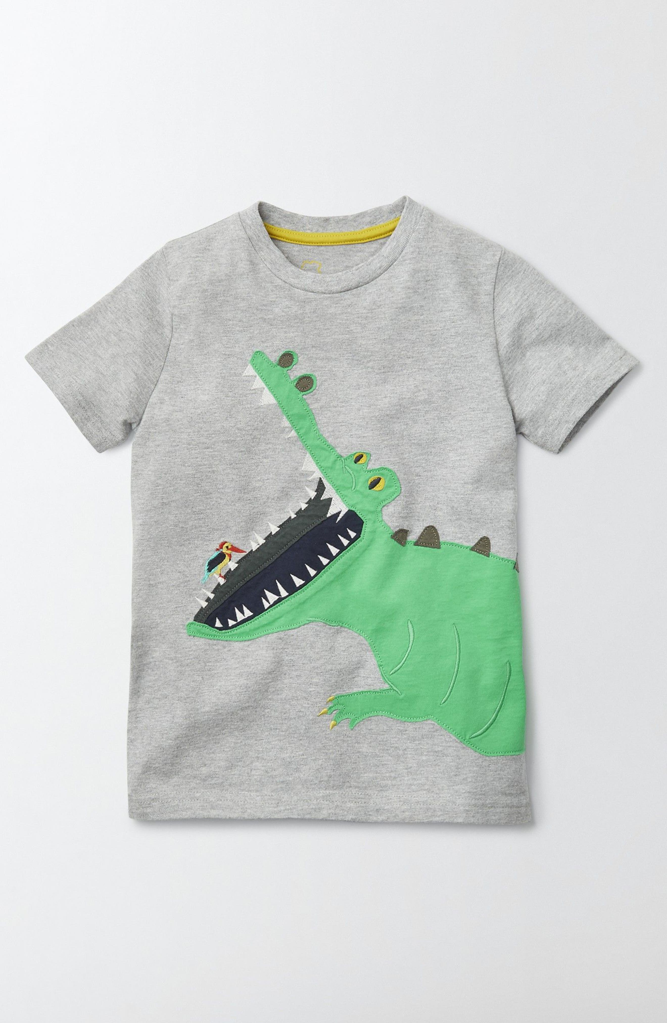 Mini Boden Appliqué T-Shirt (Toddler Boys, Little Boys & Big Boys)