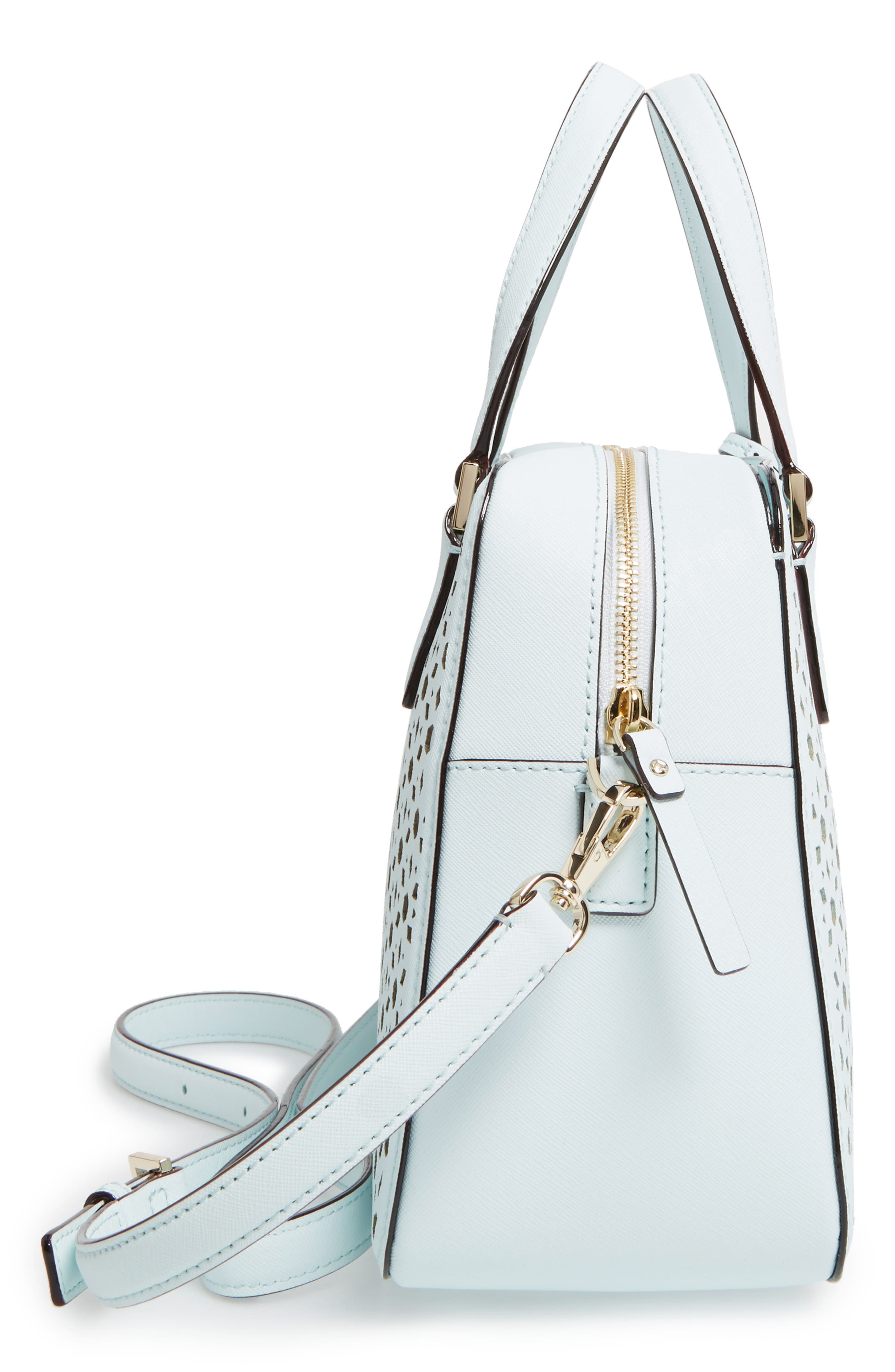 Alternate Image 5  - kate spade new york cameron street perforated little babe leather satchel