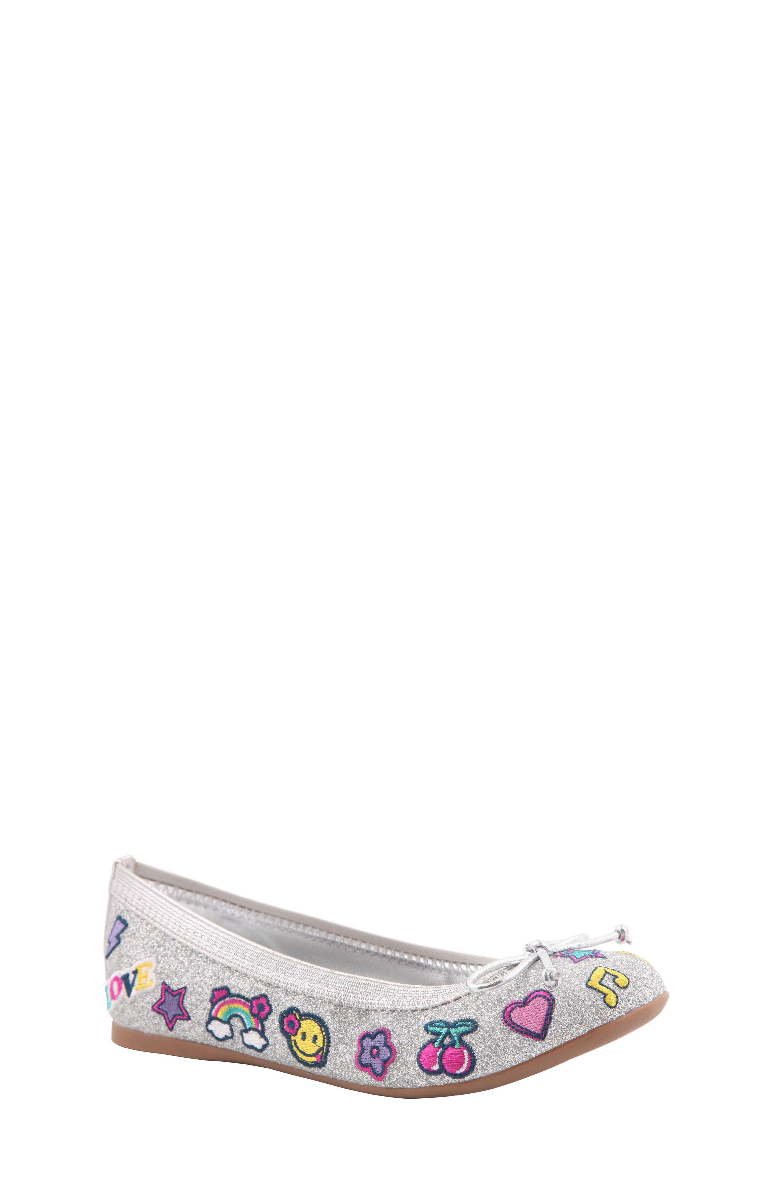 Nina Meah Emoji Glitter Ballet Flat (Little Kid & Big Kid)