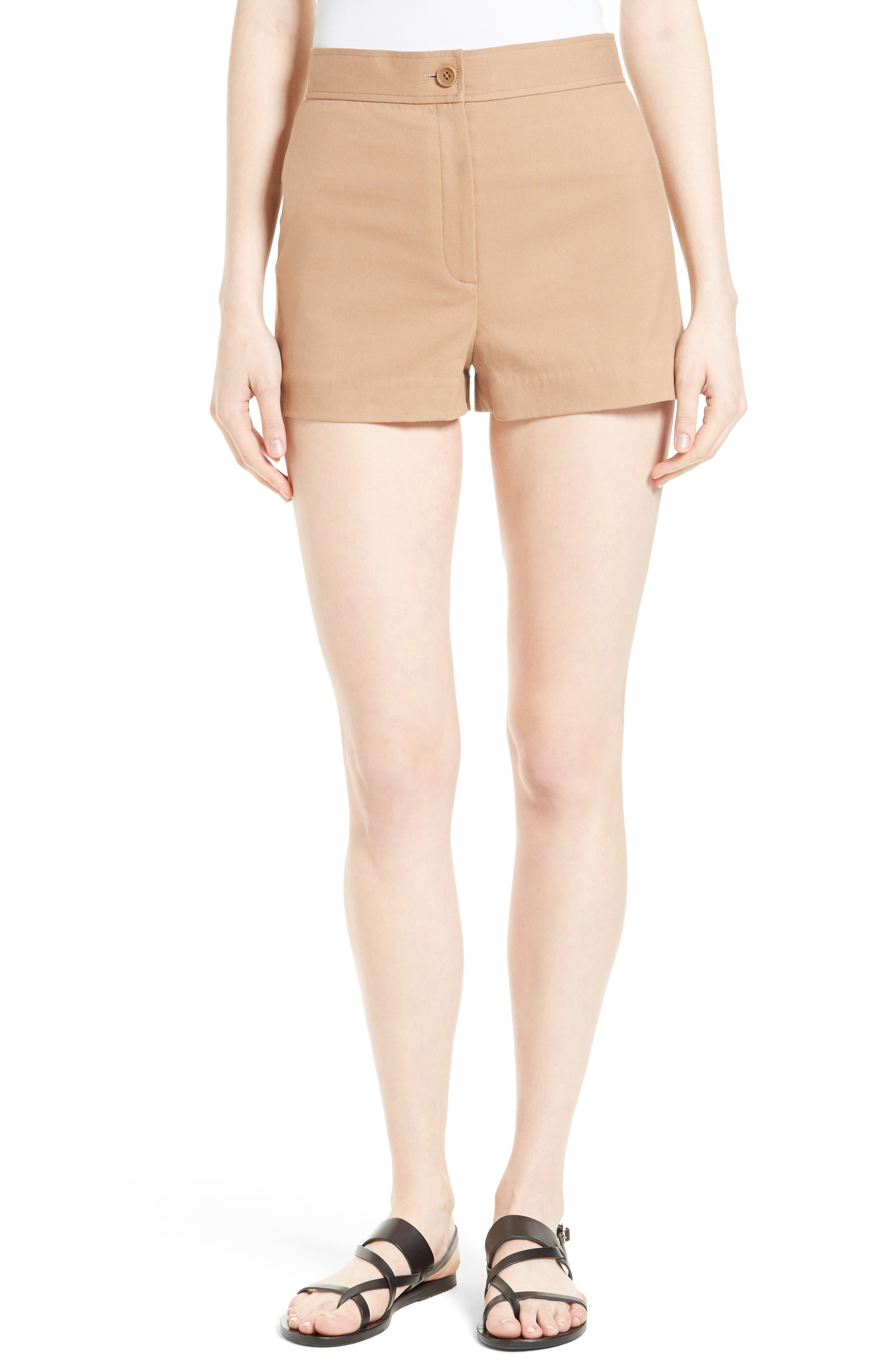 Theory Biquincy Stretch Cotton Shorts