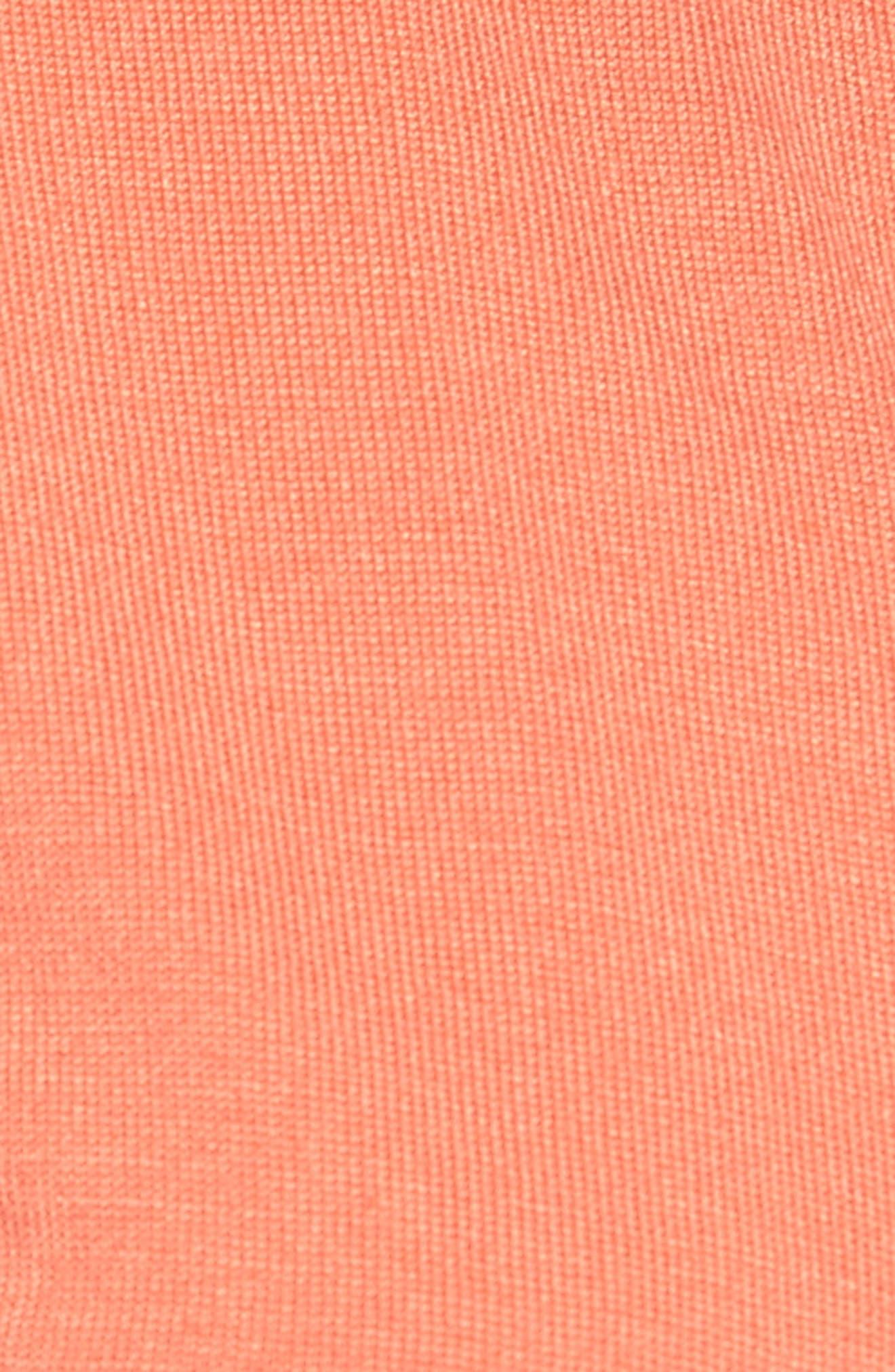 Alternate Image 5  - Halogen® Three Quarter Sleeve Crewneck Cardigan (Regular & Petite)