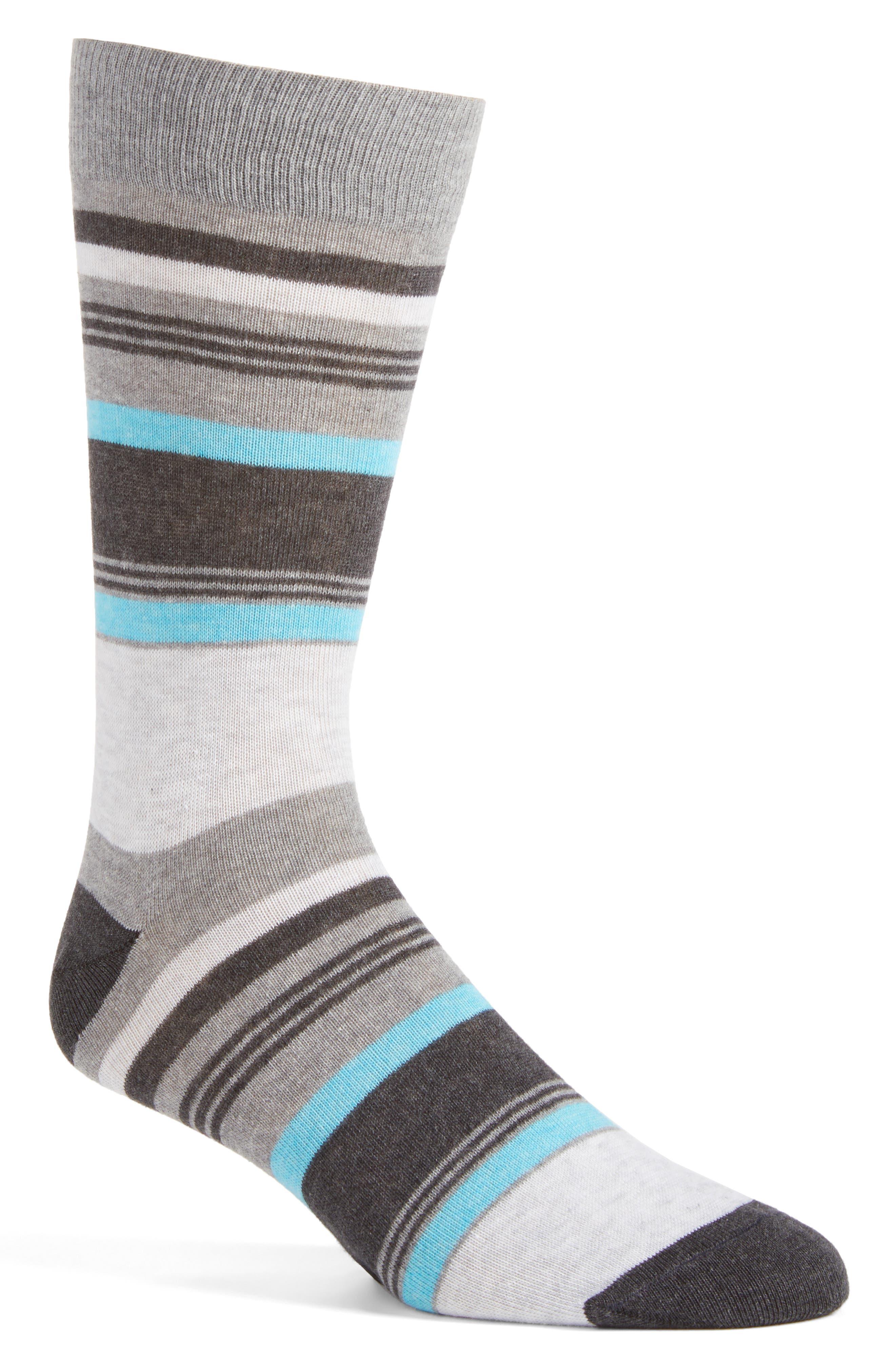 Lorenzo Uomo Variety Stripe Crew Socks