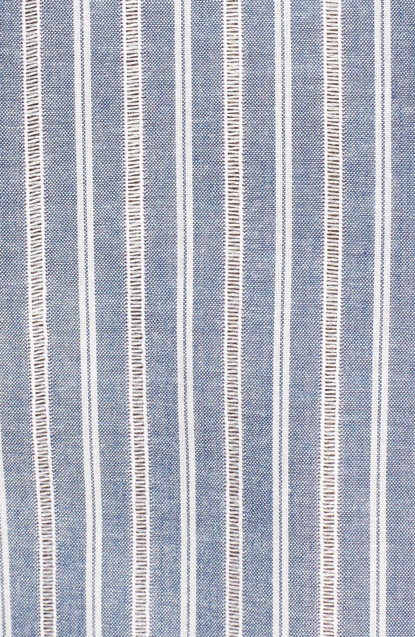 Alternate Image 5  - Pleione Cold Shoulder Stripe Jacquard Shirt (Regular & Petite)