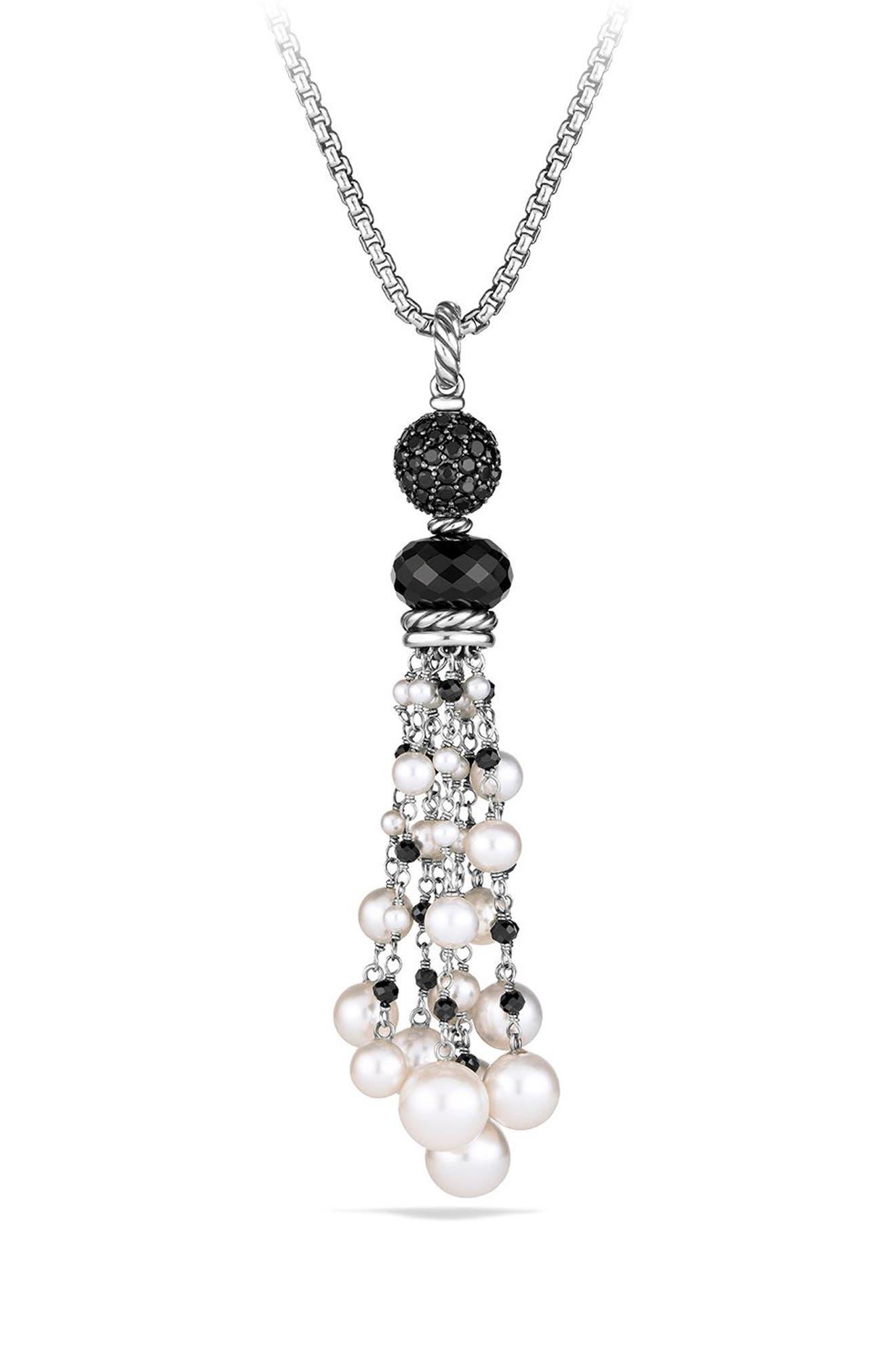 David Yurman Oceanica Tassel Pendant with Black Onyx and Pearl