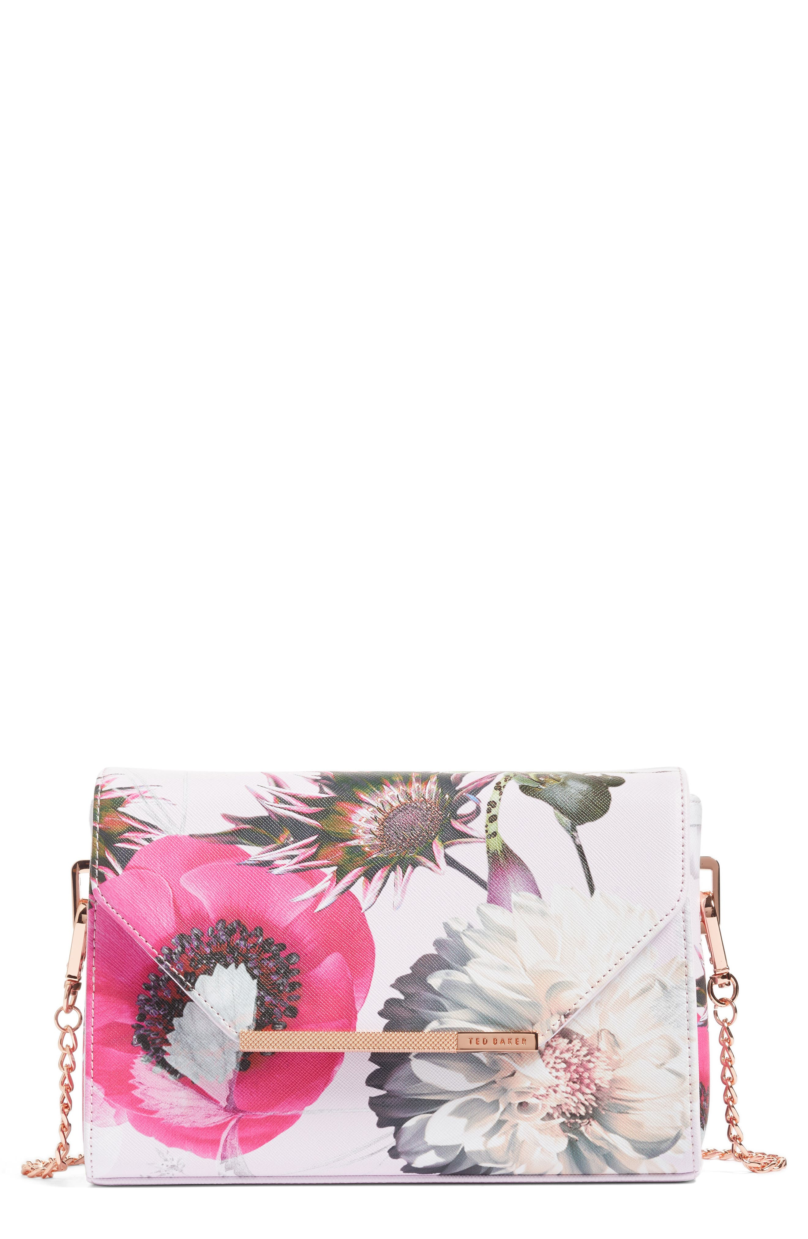 Ted Baker London Panello Neon Poppy Textured Bar Crossbody Bag (Nordstrom Exclusive)