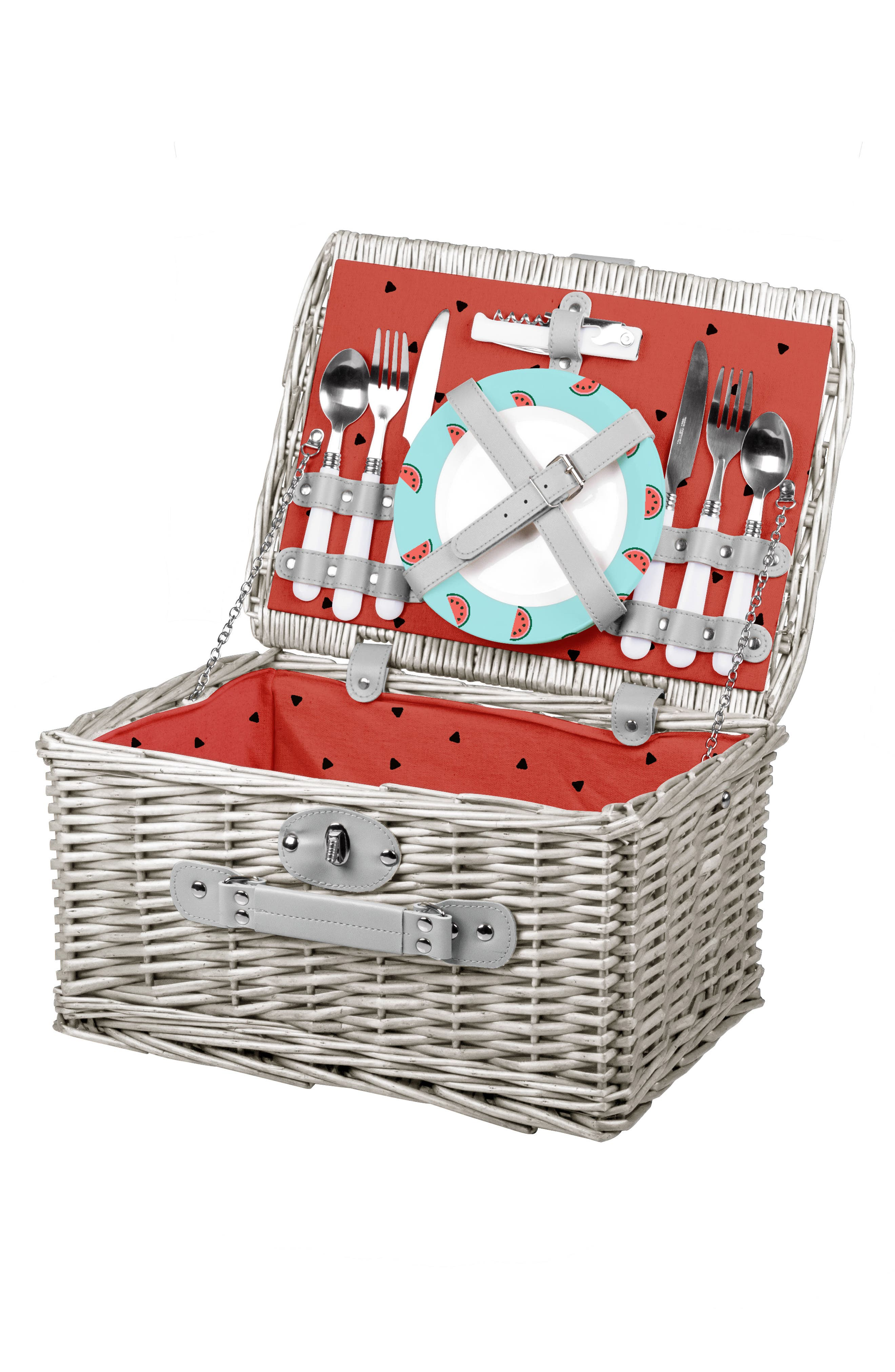 Picnic Time Catalina Wicker Picnic Basket