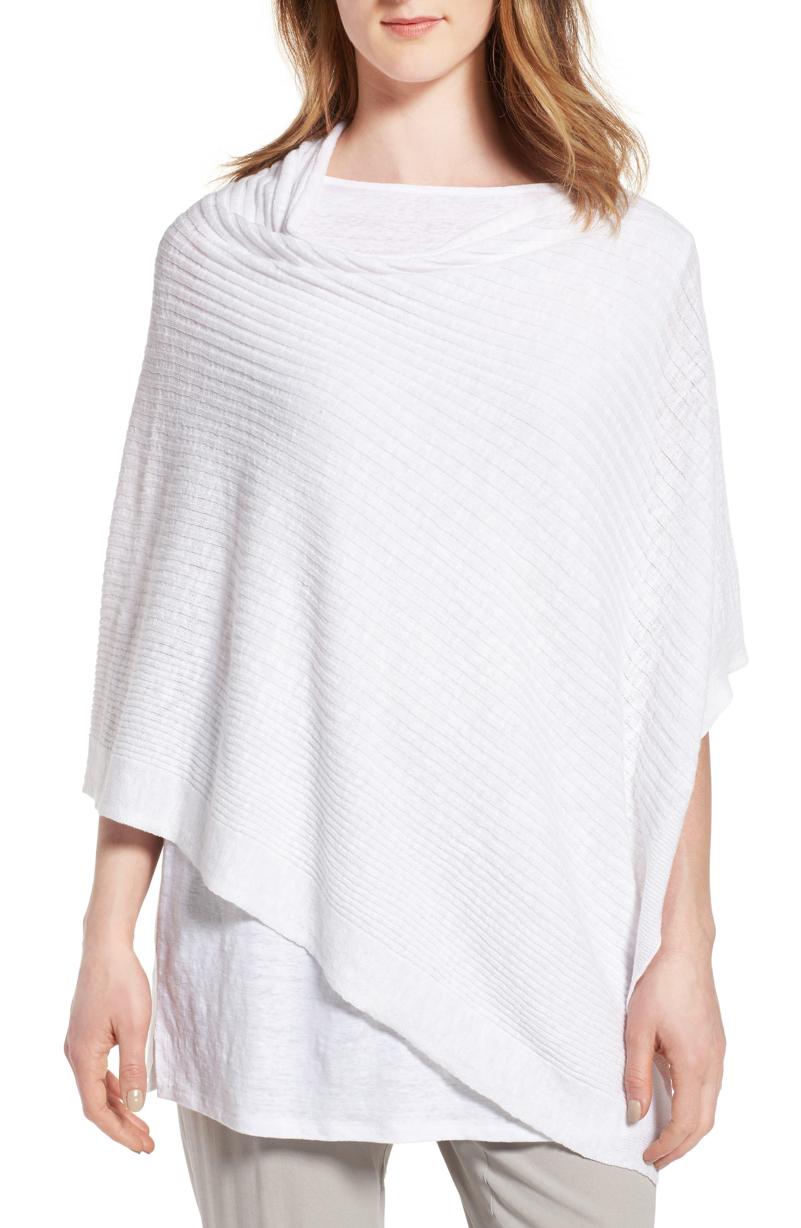 Eileen Fisher Organic Linen & Cotton Poncho