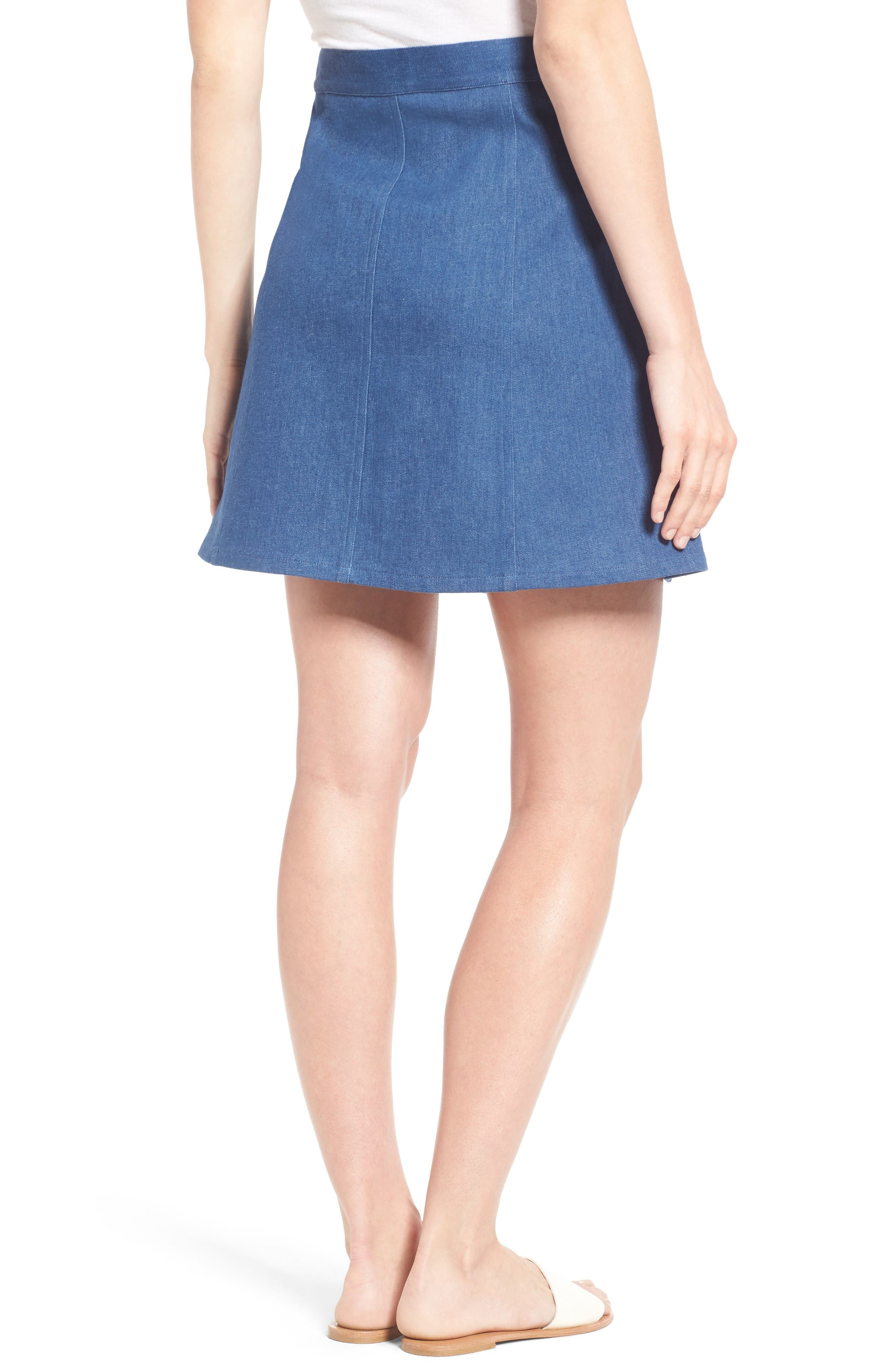 Alternate Image 2  - Draper James Stretch Denim Miniskirt (Nordstrom Exclusive)
