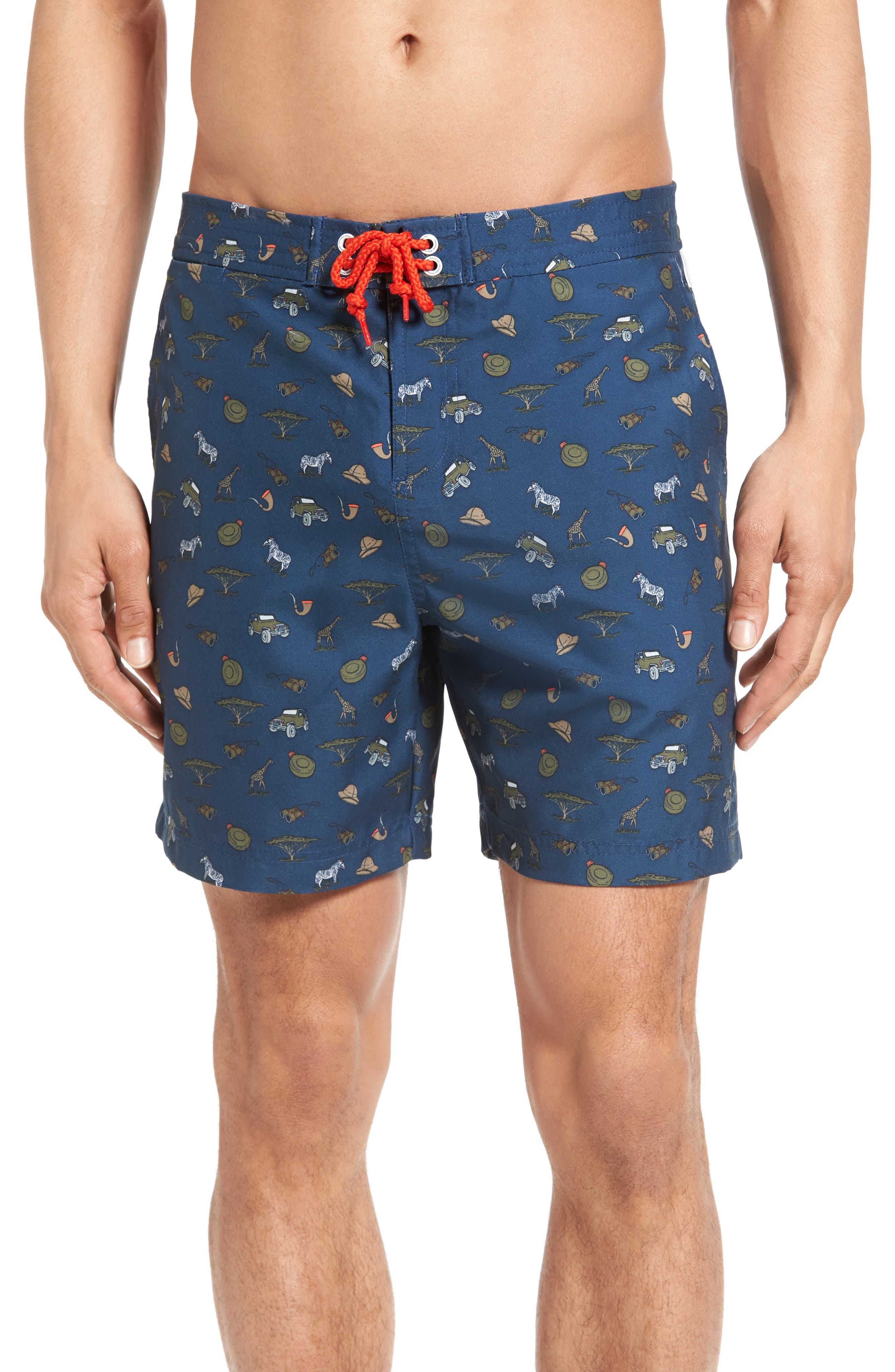 Original Penguin Safari Ditsy Print Volley Swim Trunks
