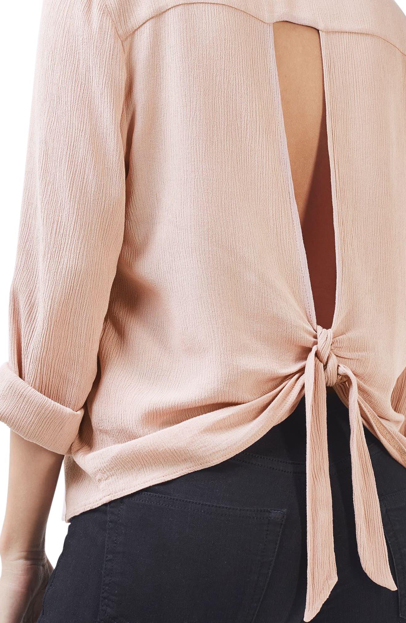 Alternate Image 5  - Topshop Tie Back Maternity Shirt