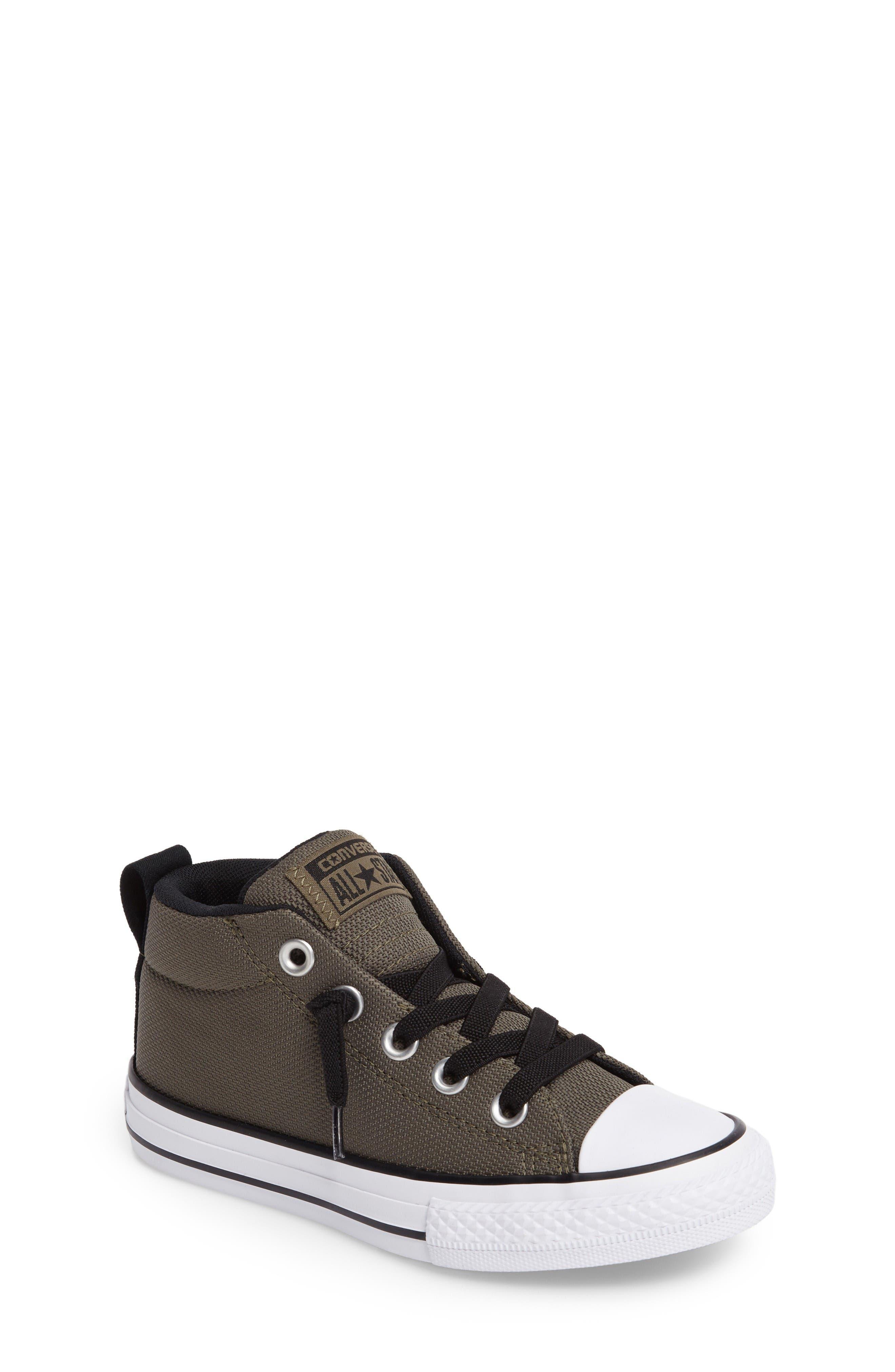 Alternate Image 1 Selected - Converse Chuck Taylor® All Star® Basket Weave Street Mid Sneaker (Toddler, Little Kid & Big Kid)
