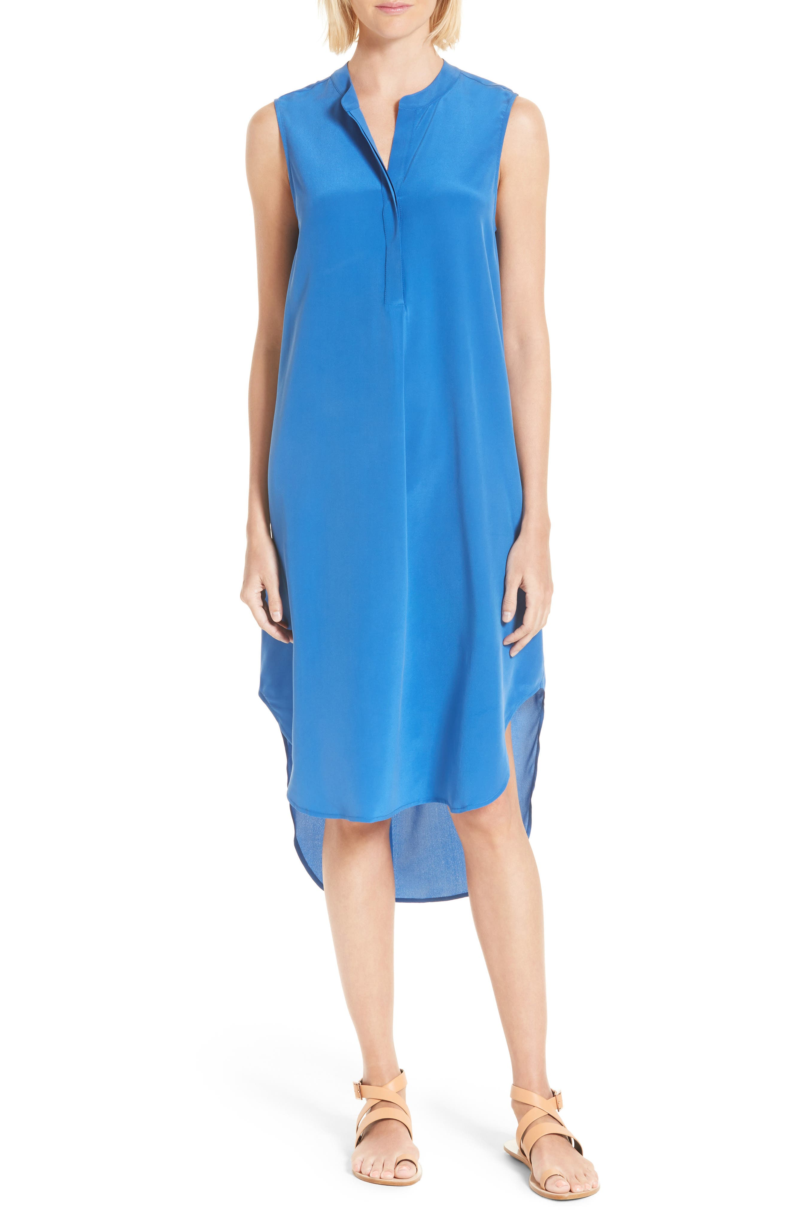 L'AGENCE 'Morocco' Sleeveless Silk Dress