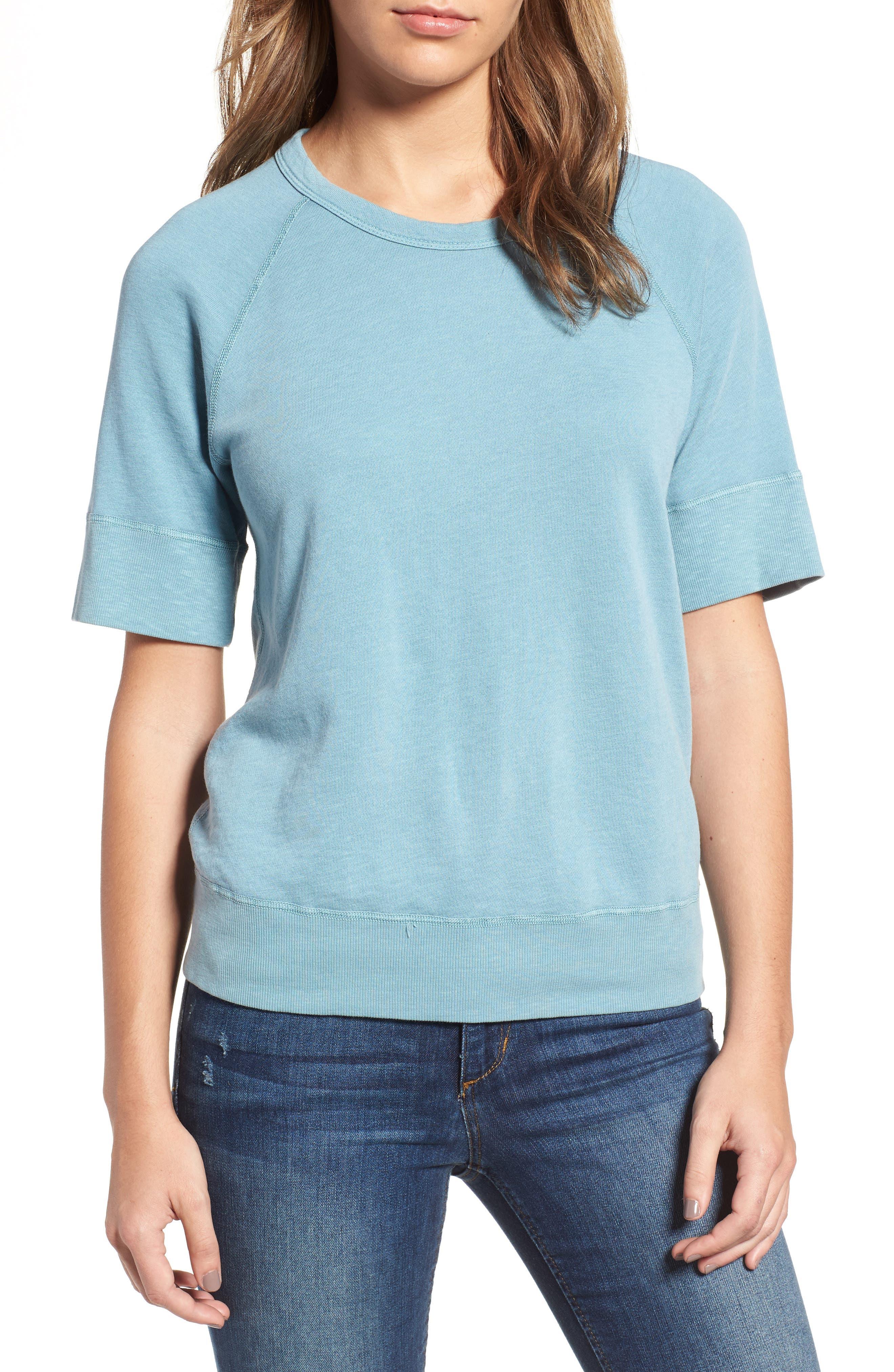 Main Image - James Perse Raglan Sleeve Cotton Pullover