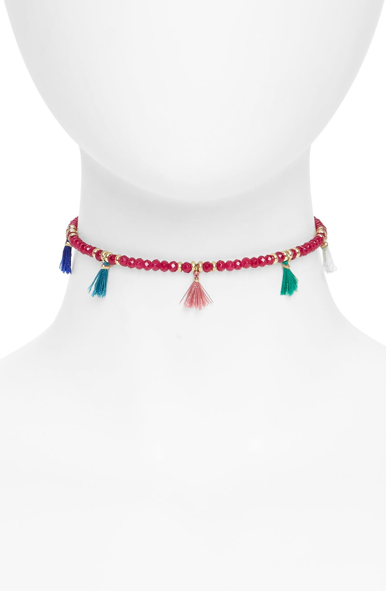 Canvas Jewelry Tassel Choker