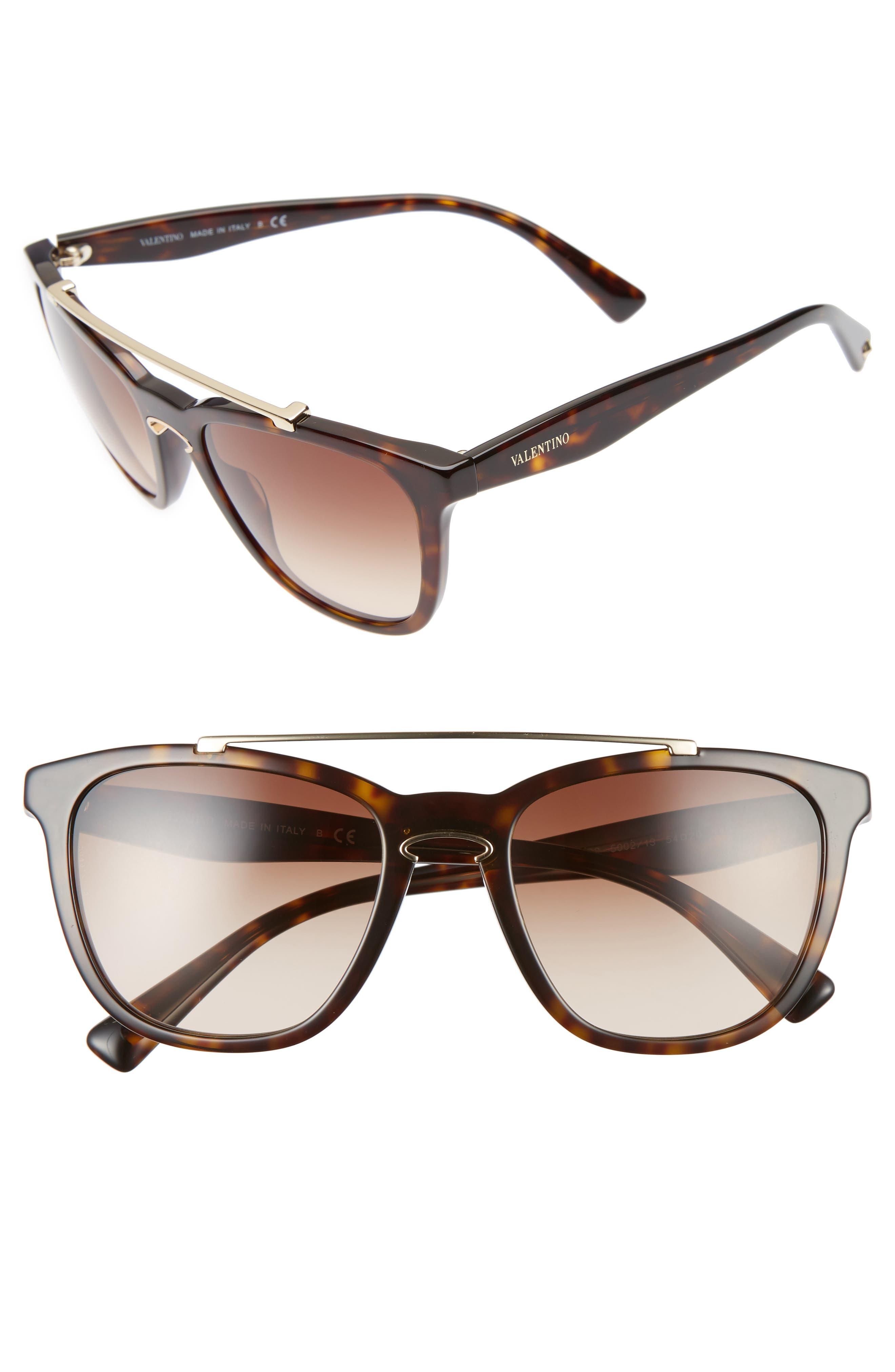 Valentino 54mm Cat Eye Sunglasses